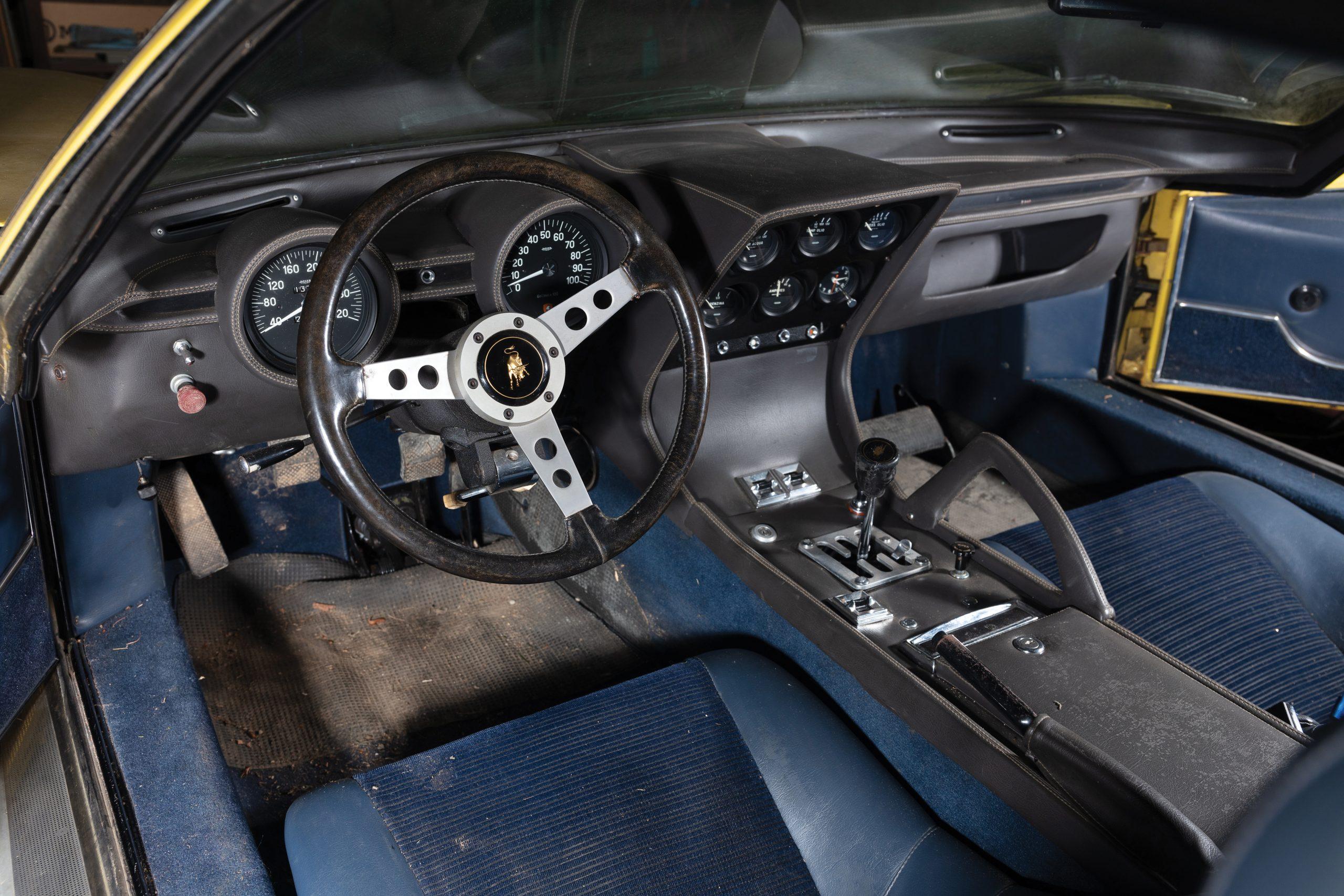 1969 Lamborghini Miura P400 S barn find interior