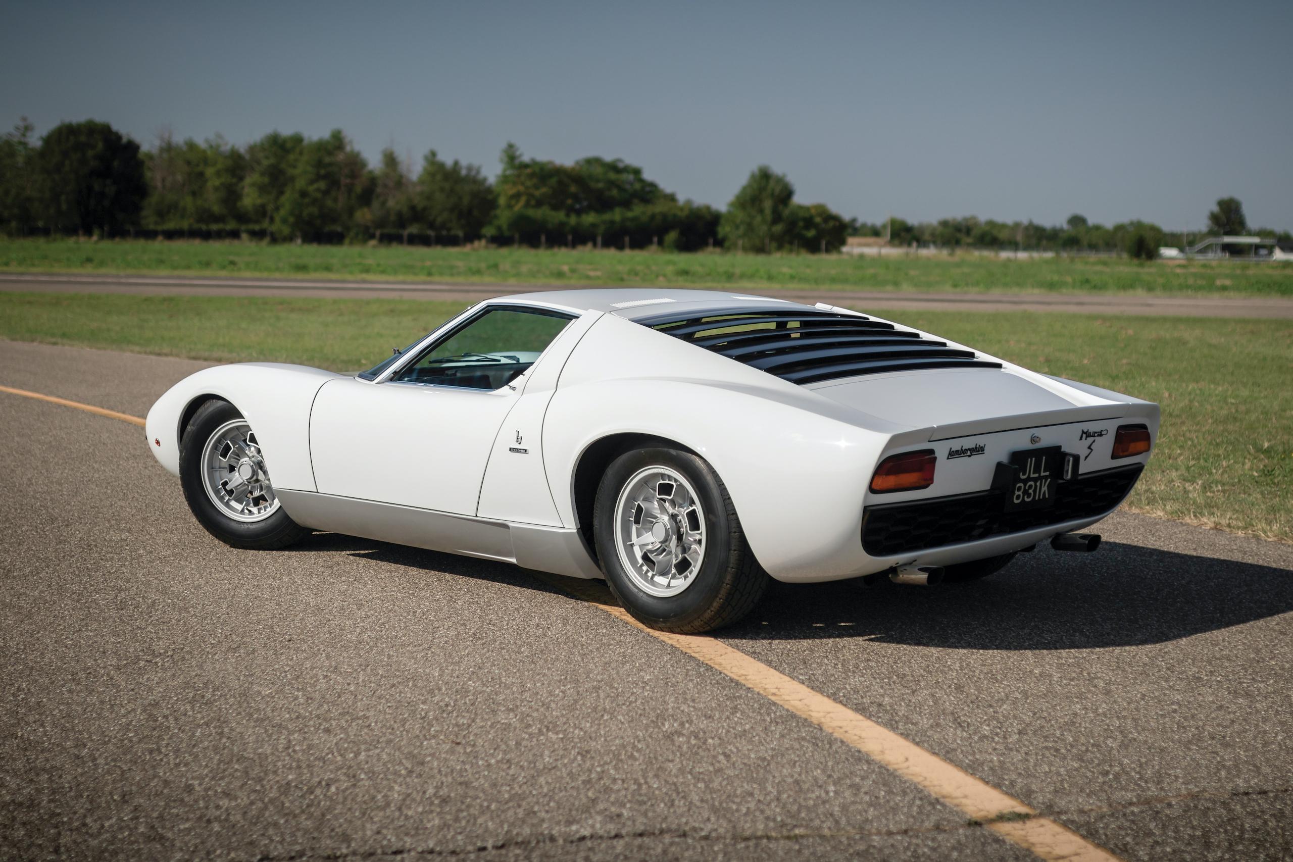1971 Lamborghini Miura P400 S by Bertone rear three-quarter