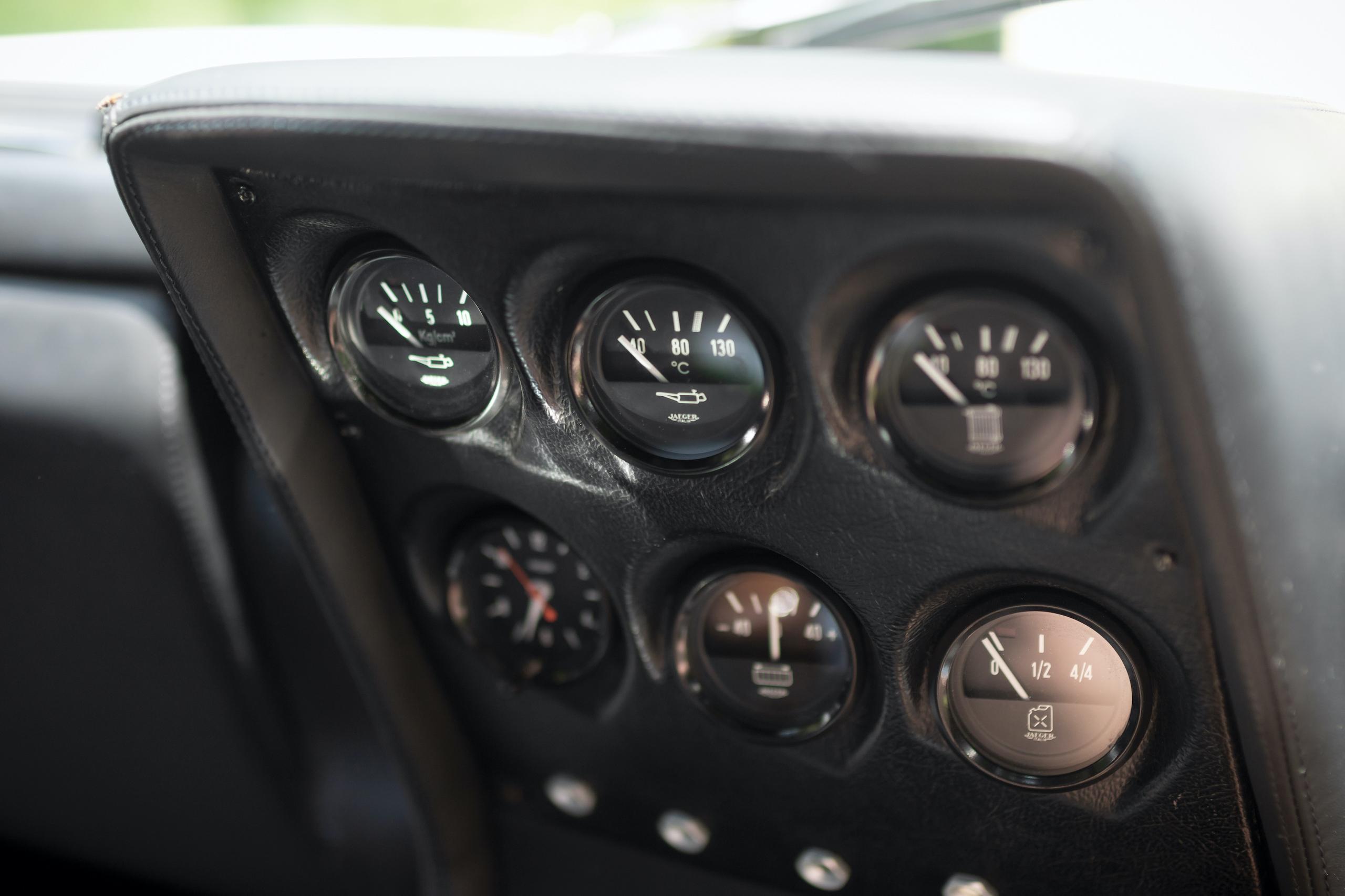 1971 Lamborghini Miura P400 S by Bertone interior gauges