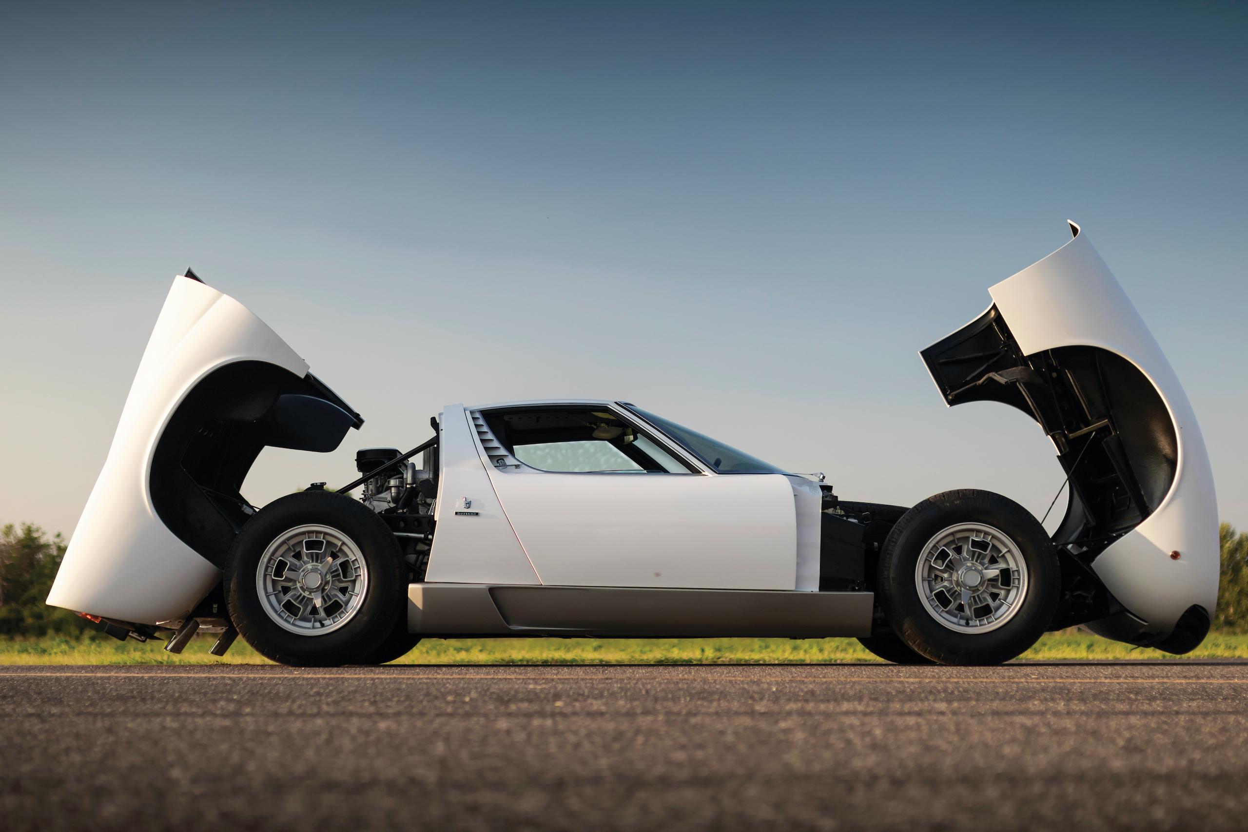 1971 Lamborghini Miura P400 S by Bertone open