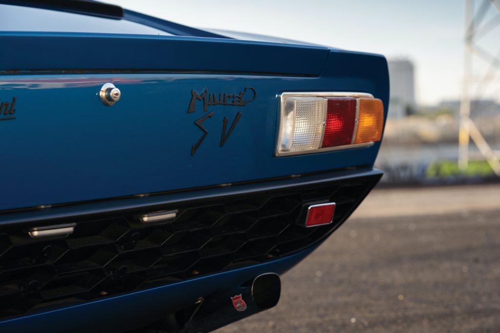 1971 Lamborghini Miura P400 SV rear badge