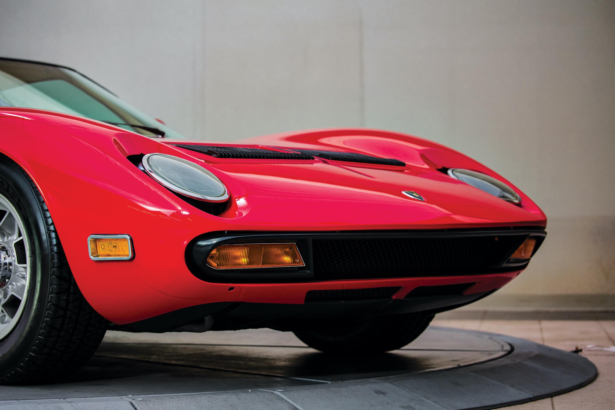 1971 Lamborghini Miura P400 SV front fascia