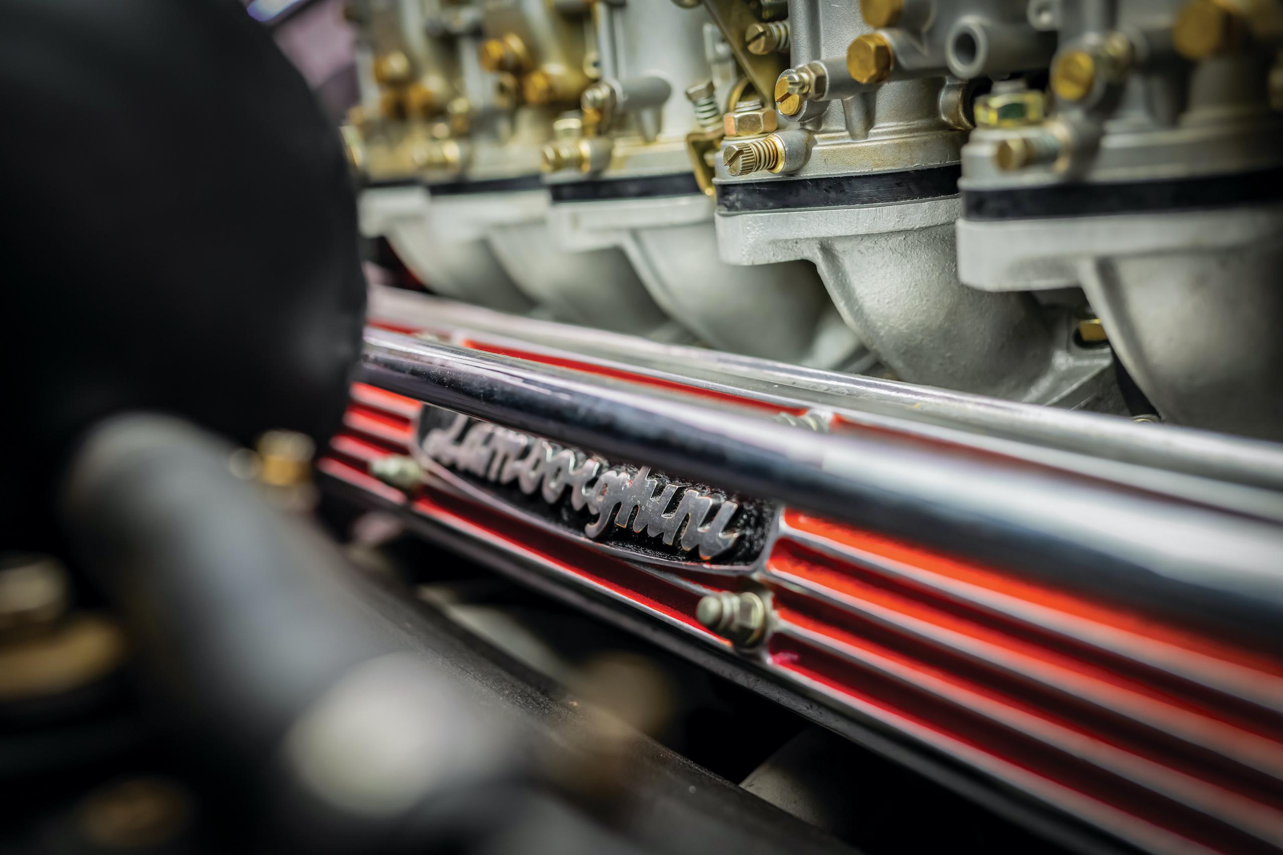 1971 Lamborghini Miura P400 SV engine detail