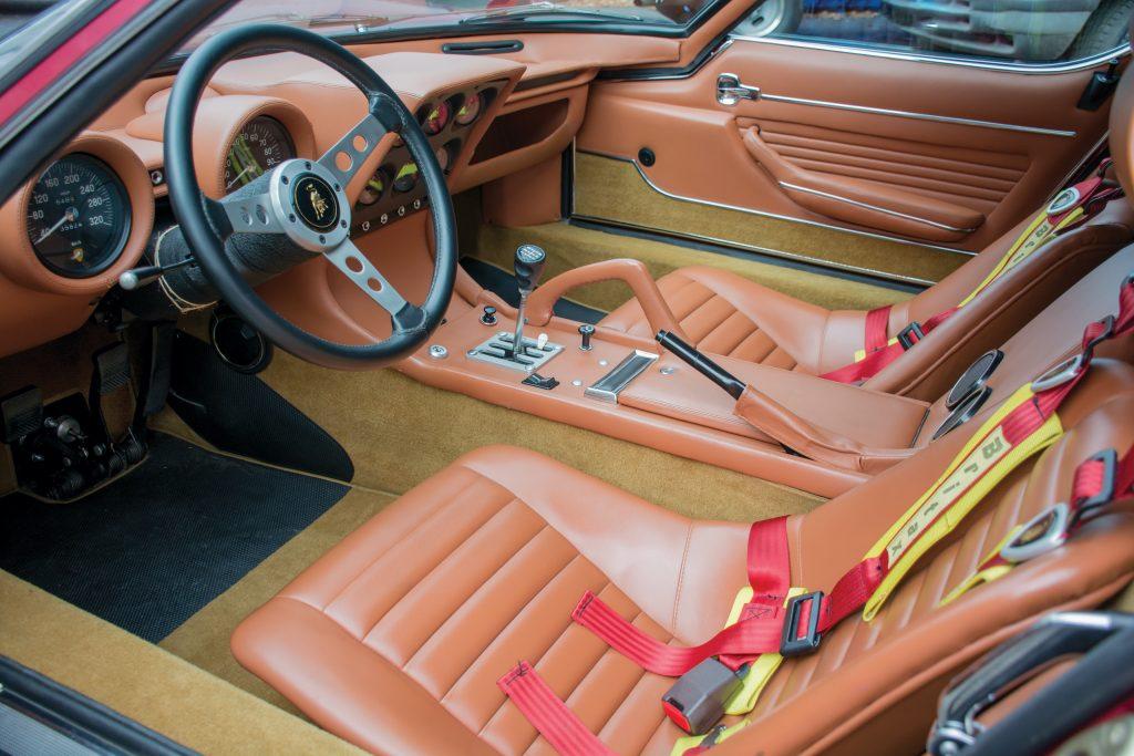 1971 Lamborghini Miura SVJ by Bertone interior seats detail