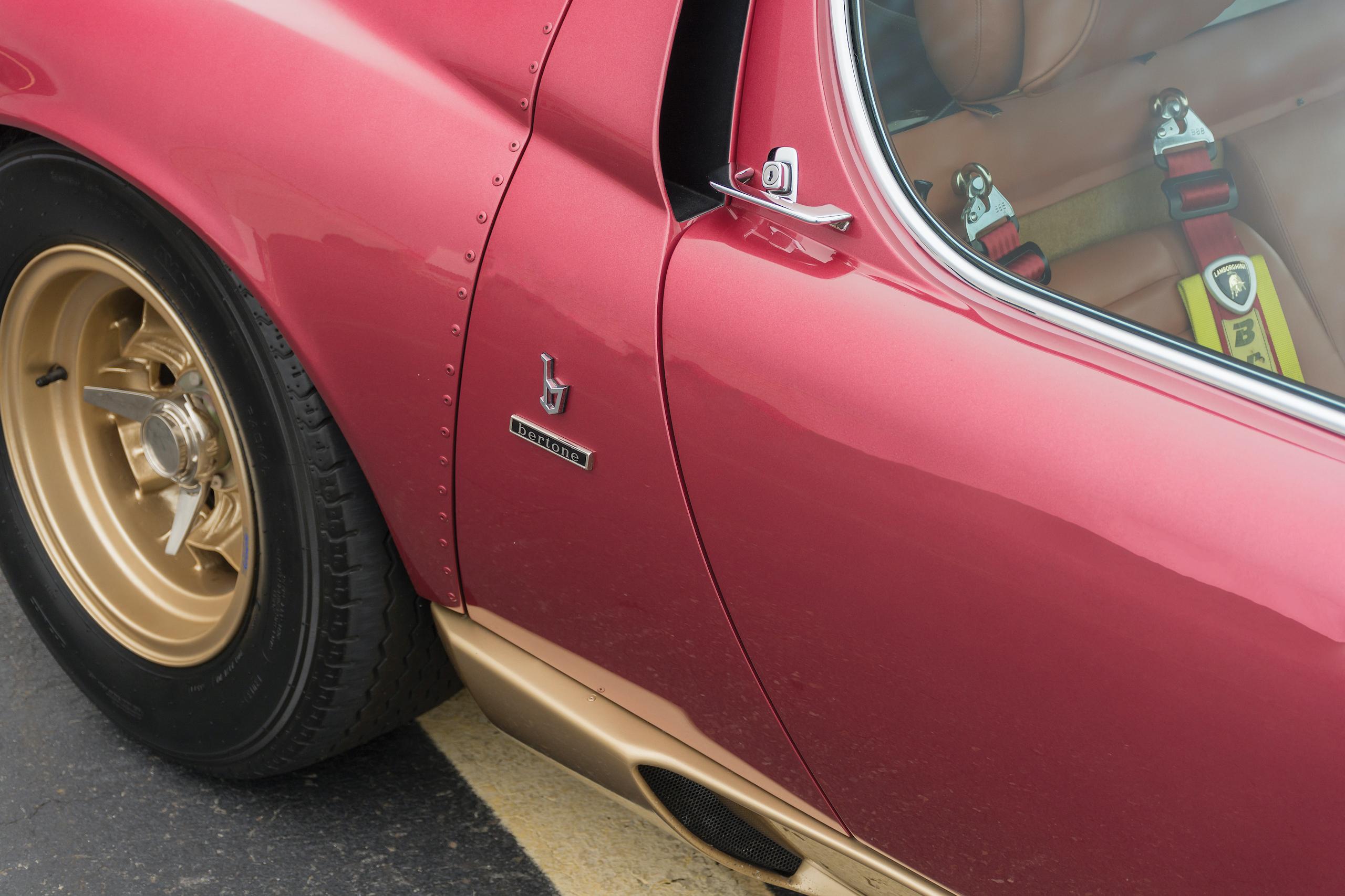 1971 Lamborghini Miura SVJ by Bertone side detail