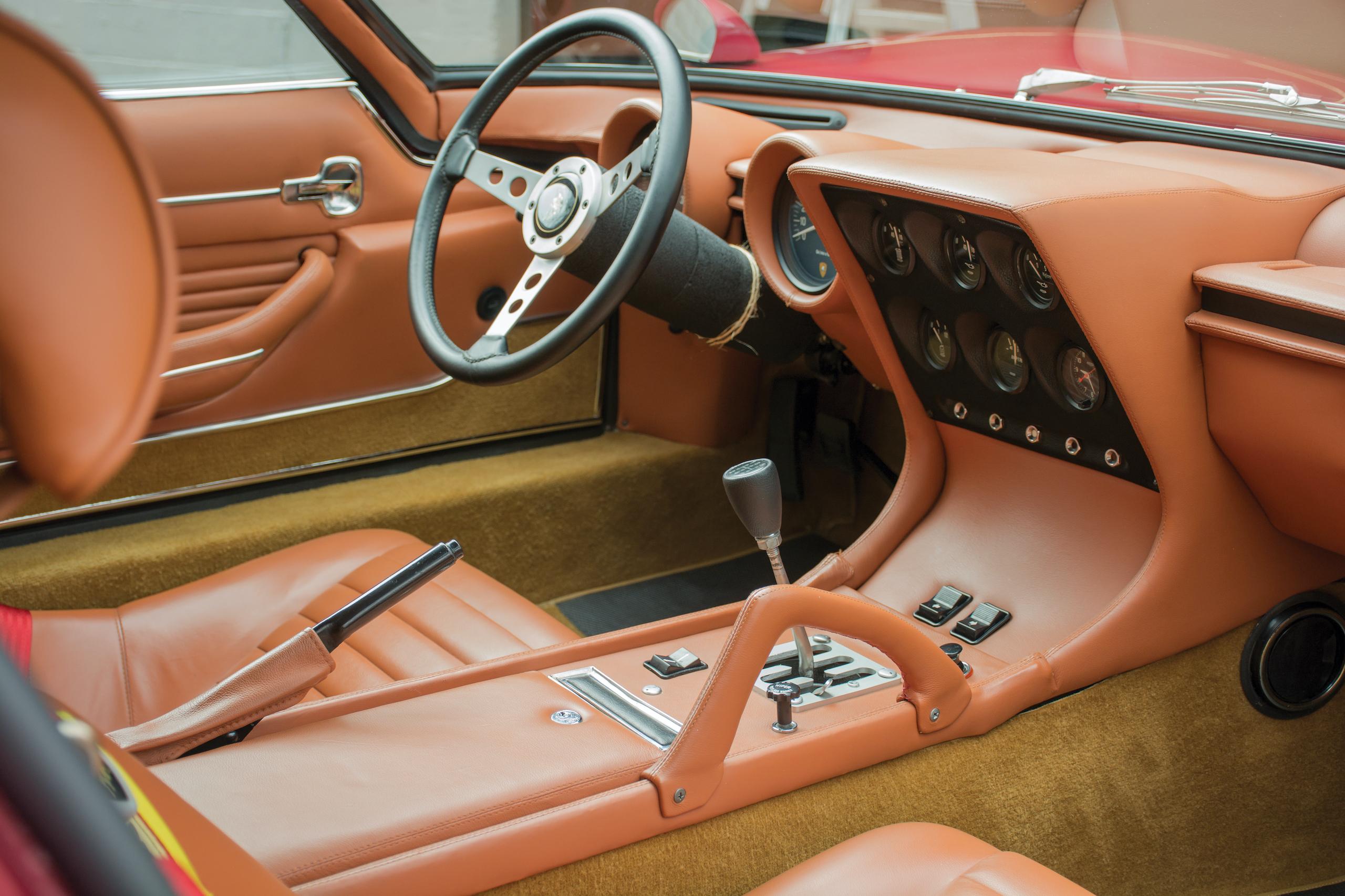 1971 Lamborghini Miura SVJ by Bertone interior
