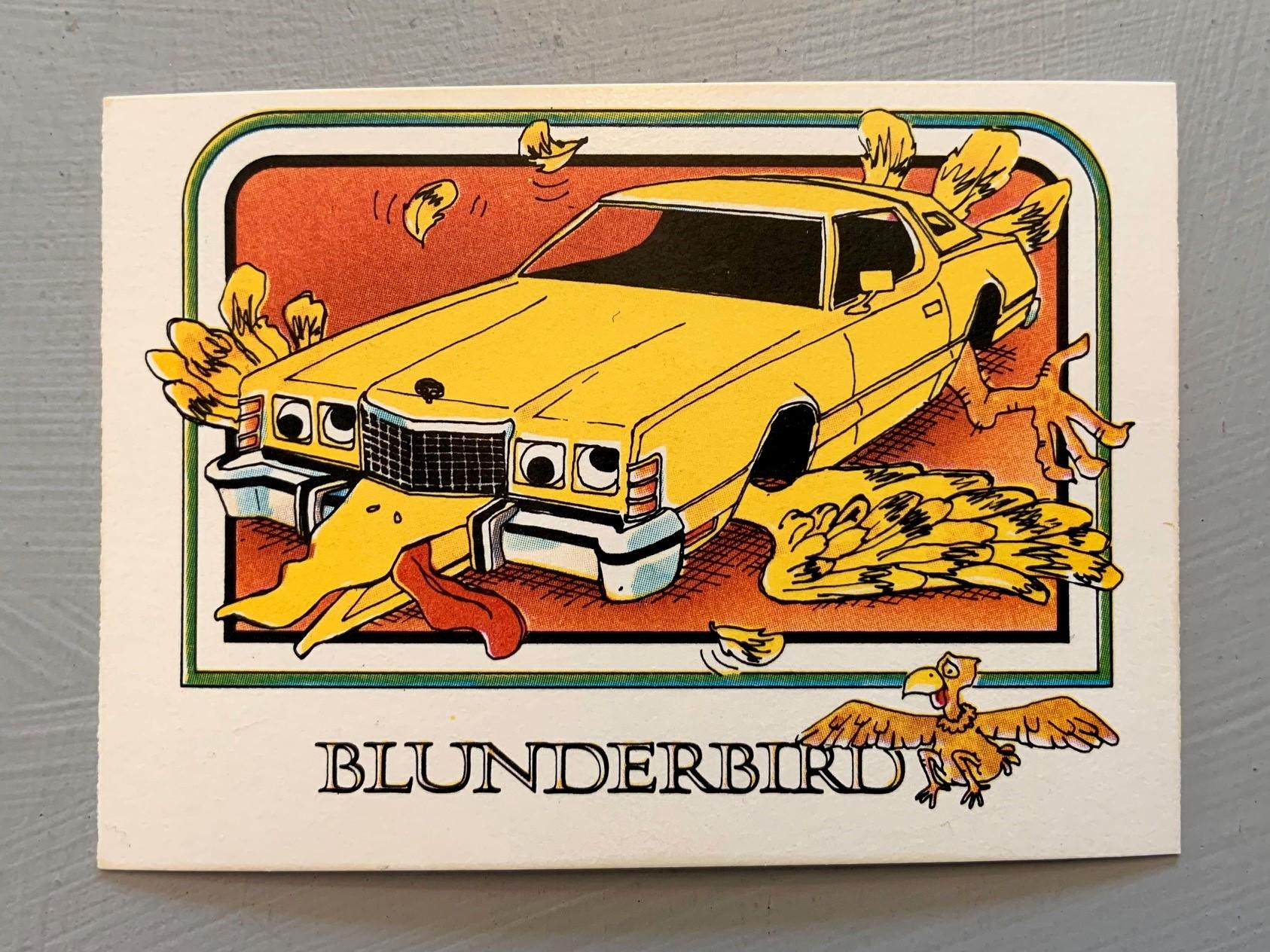 1976 Wonder Bread Krazy Cars - Blunderbird