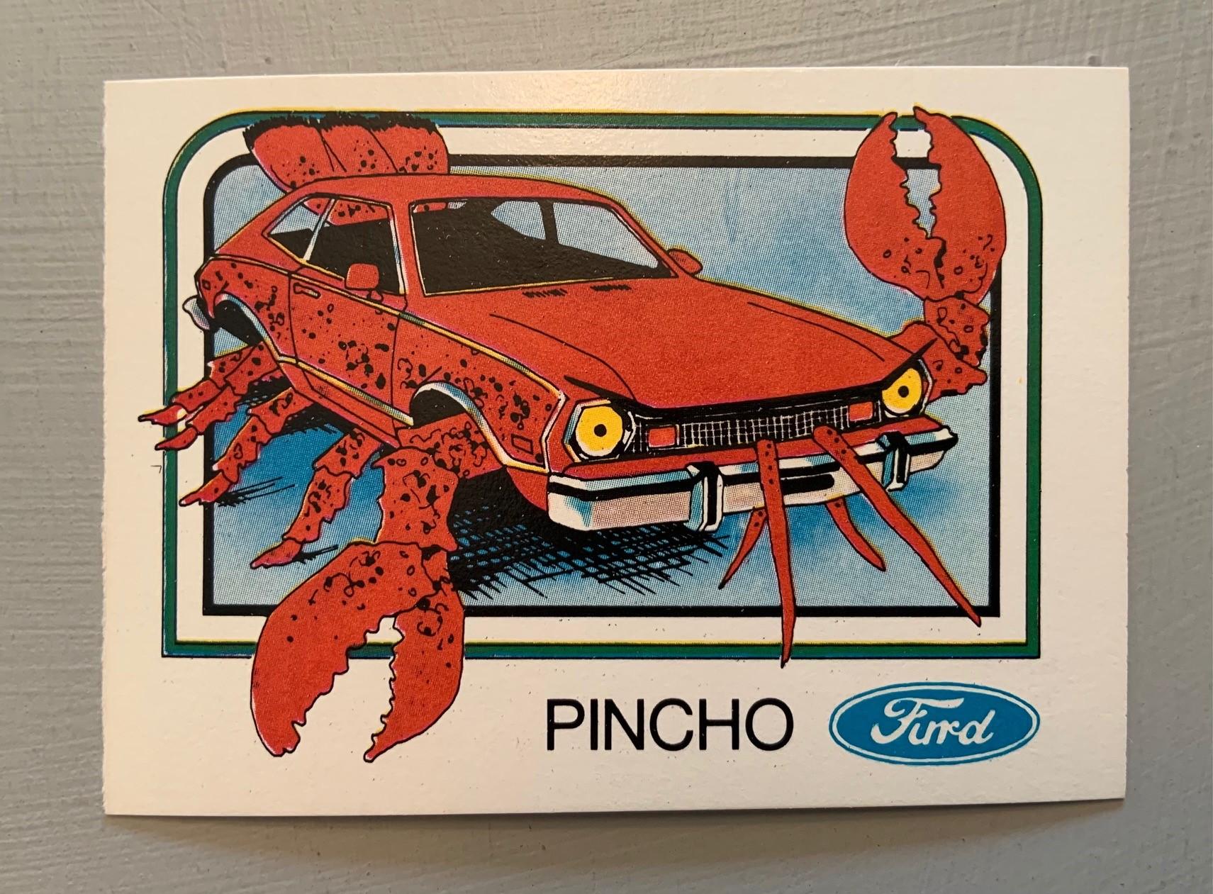 1976 Wonder Bread Krazy Cars - Pincho