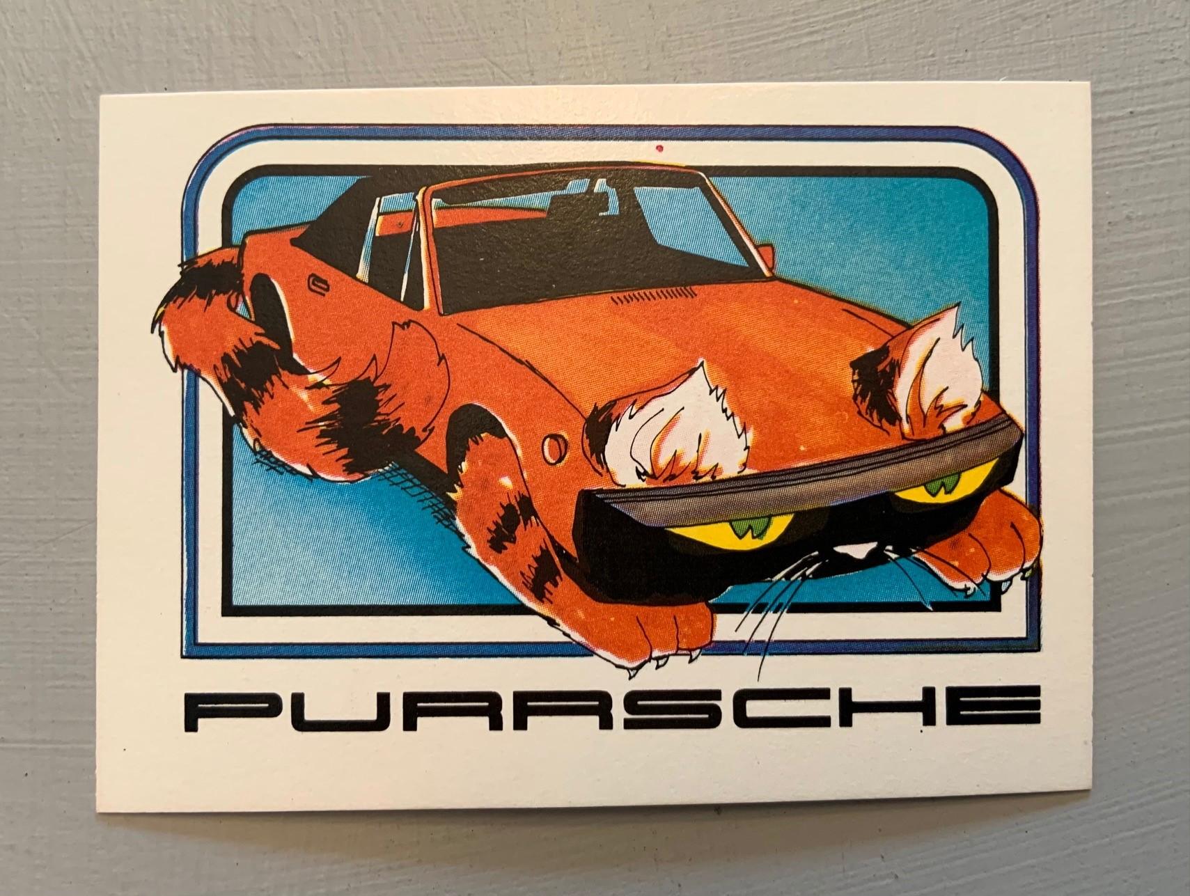 1976 Wonder Bread Krazy Cars - Purrsche