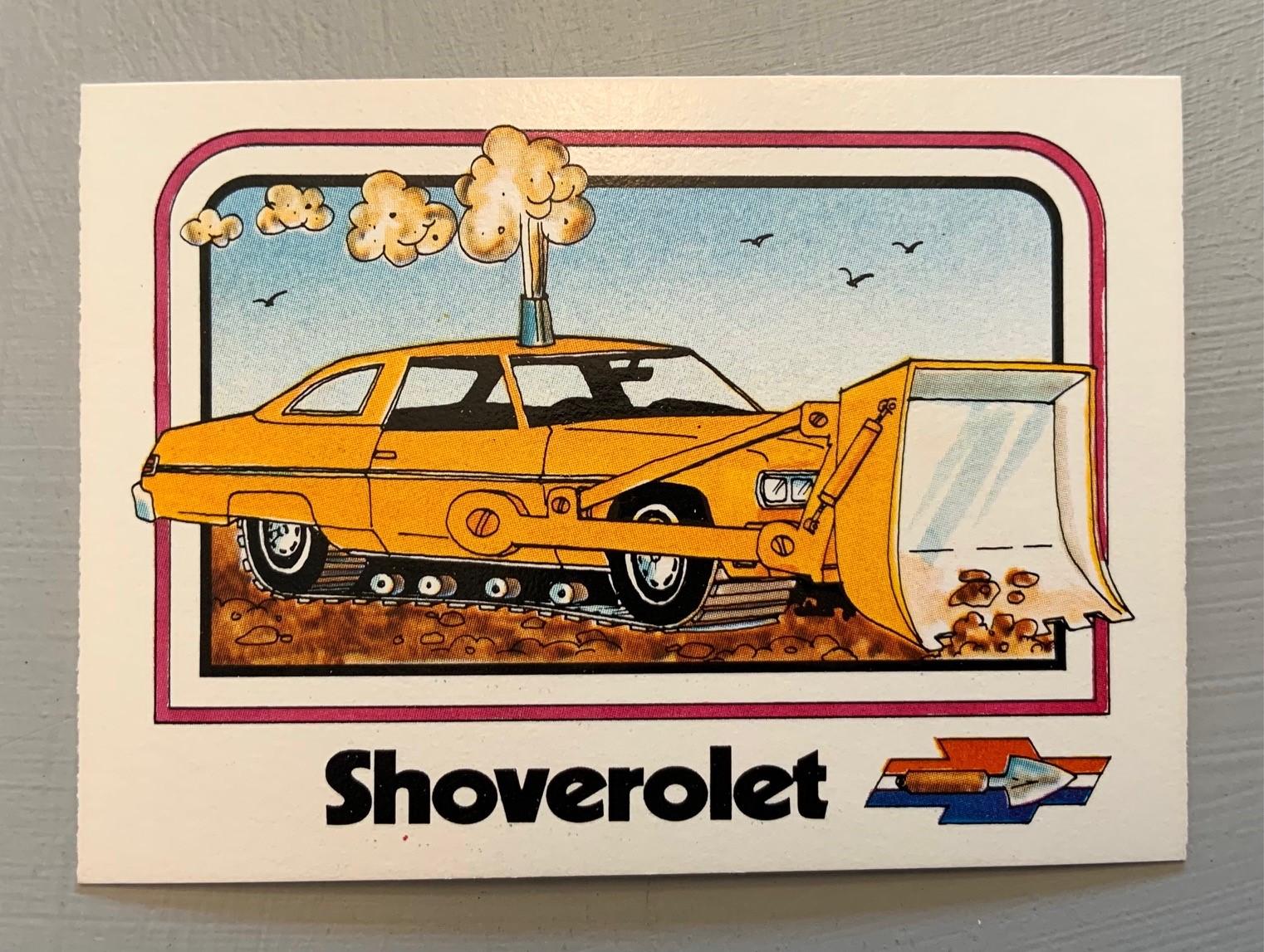 1976 Wonder Bread Krazy Cars - Shoverolet