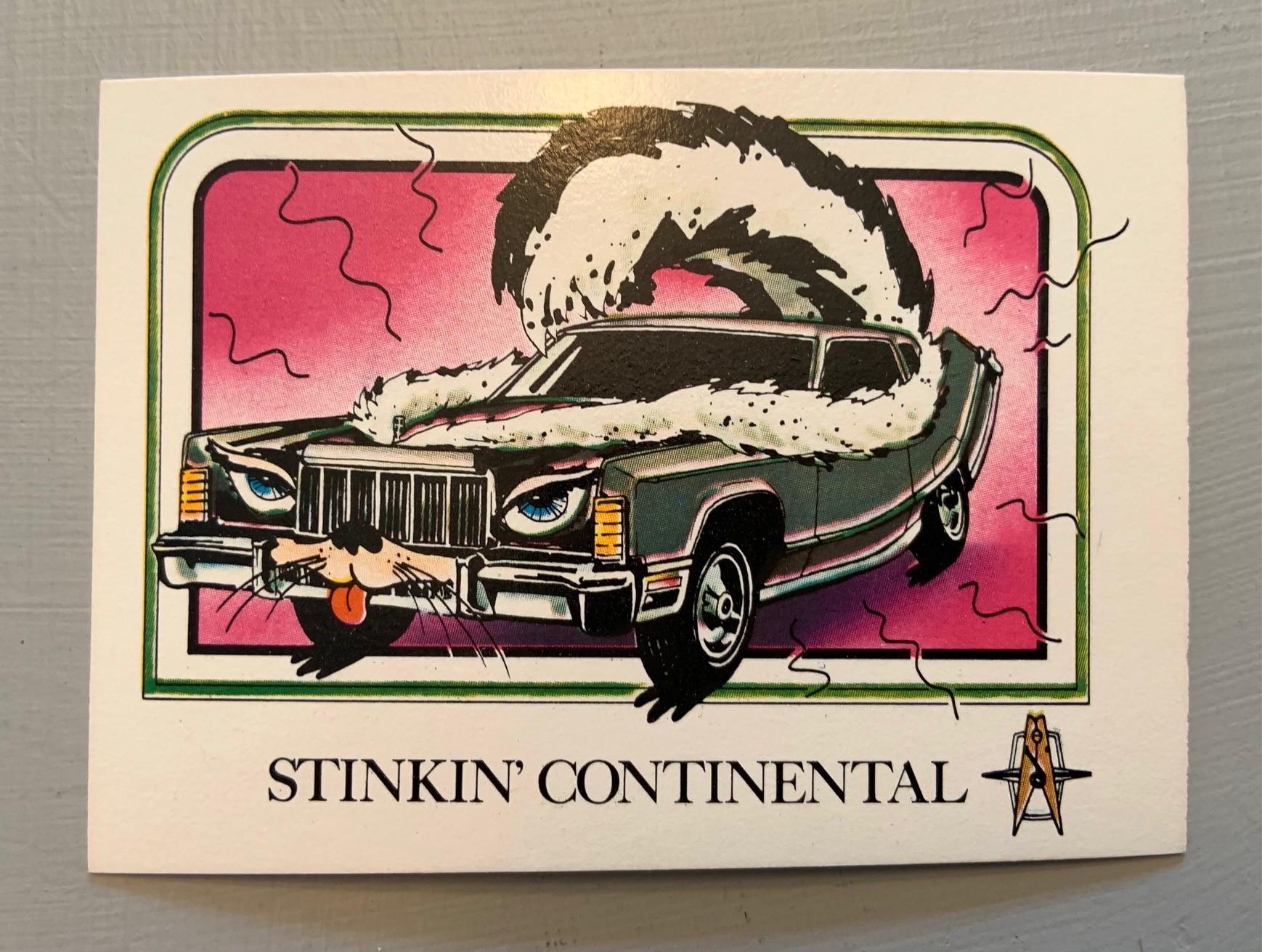 1976 Wonder Bread Krazy Cars - Stinkin Continental