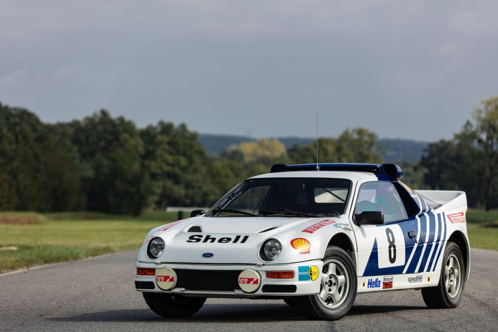 1986 Ford RS200 usine front three-quarter
