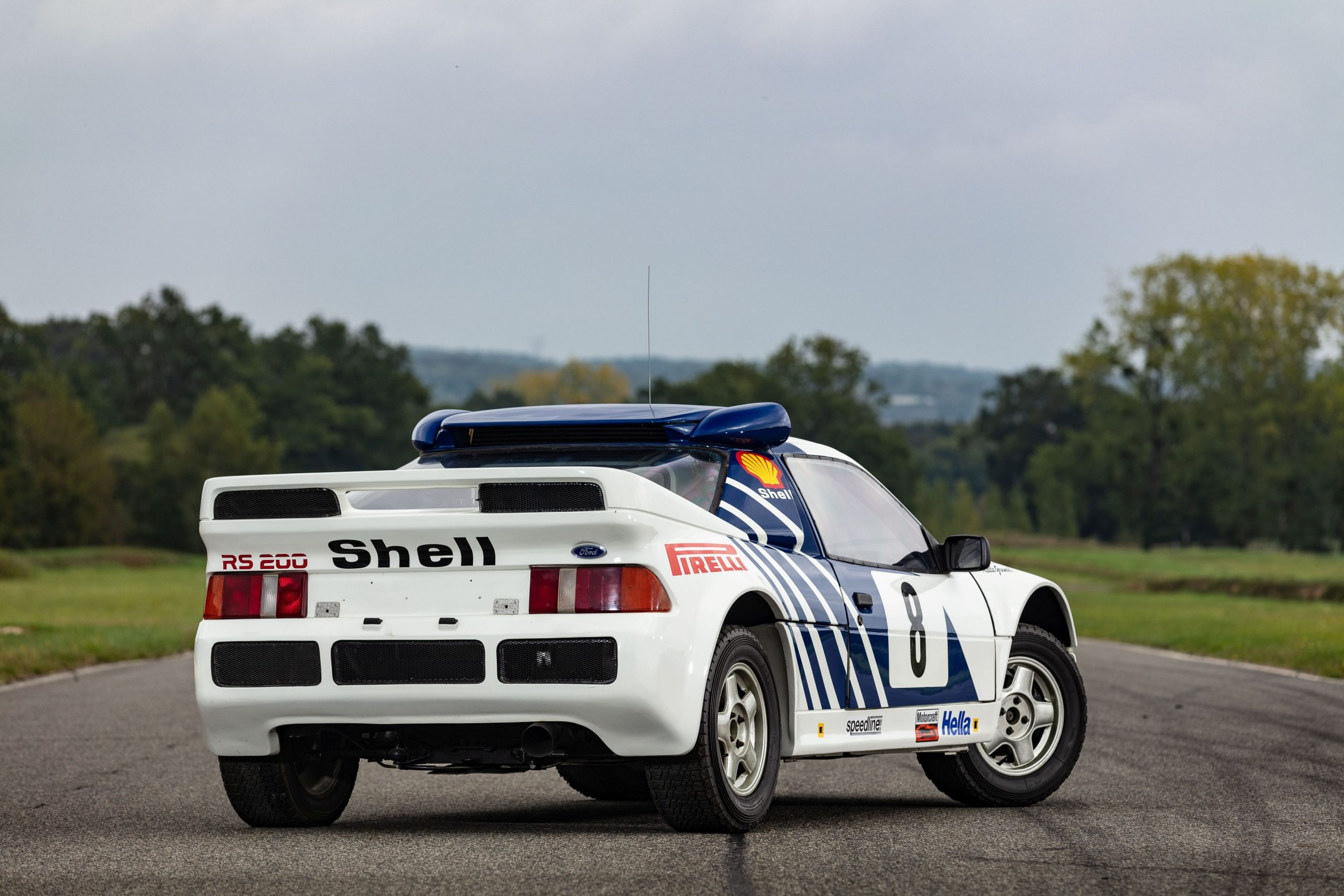 1986 Ford RS200 usine rear three-quarter