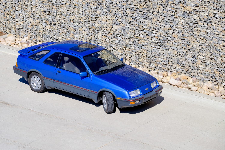 1987 Merkur XR4Ti front three-quarter