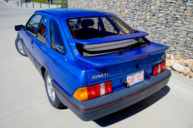 1987 Merkur XR4Ti rear three-quarter