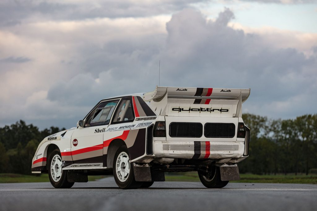 1988 Audi Sport Quattro S1 rear three-quarter
