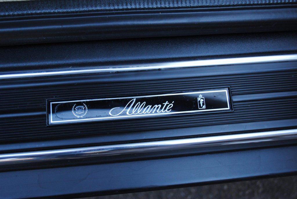 1993 Cadillac Allante door sill detail