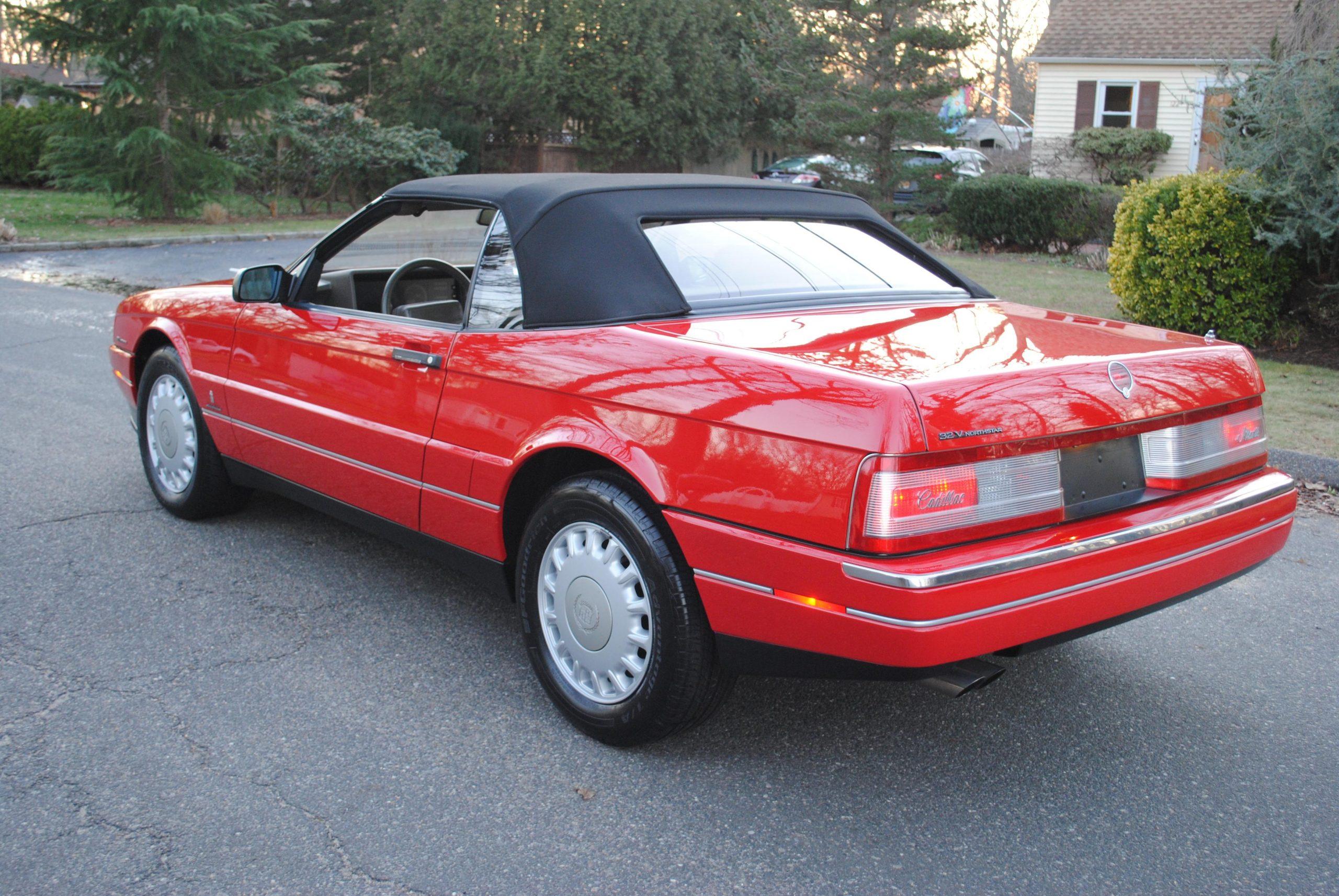1993 Cadillac Allante rear three-quarter
