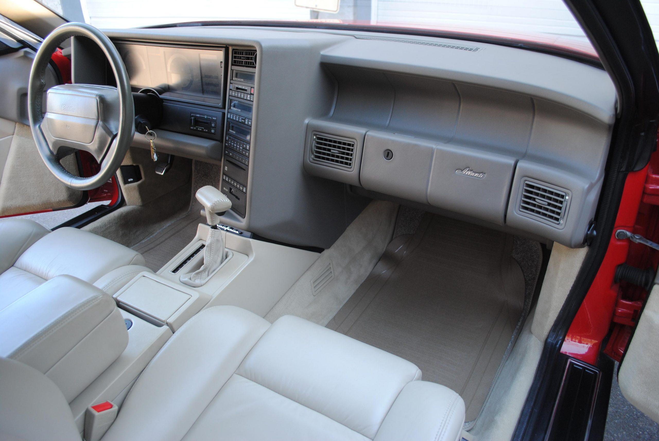 1993 Cadillac Allante interior front passenger side