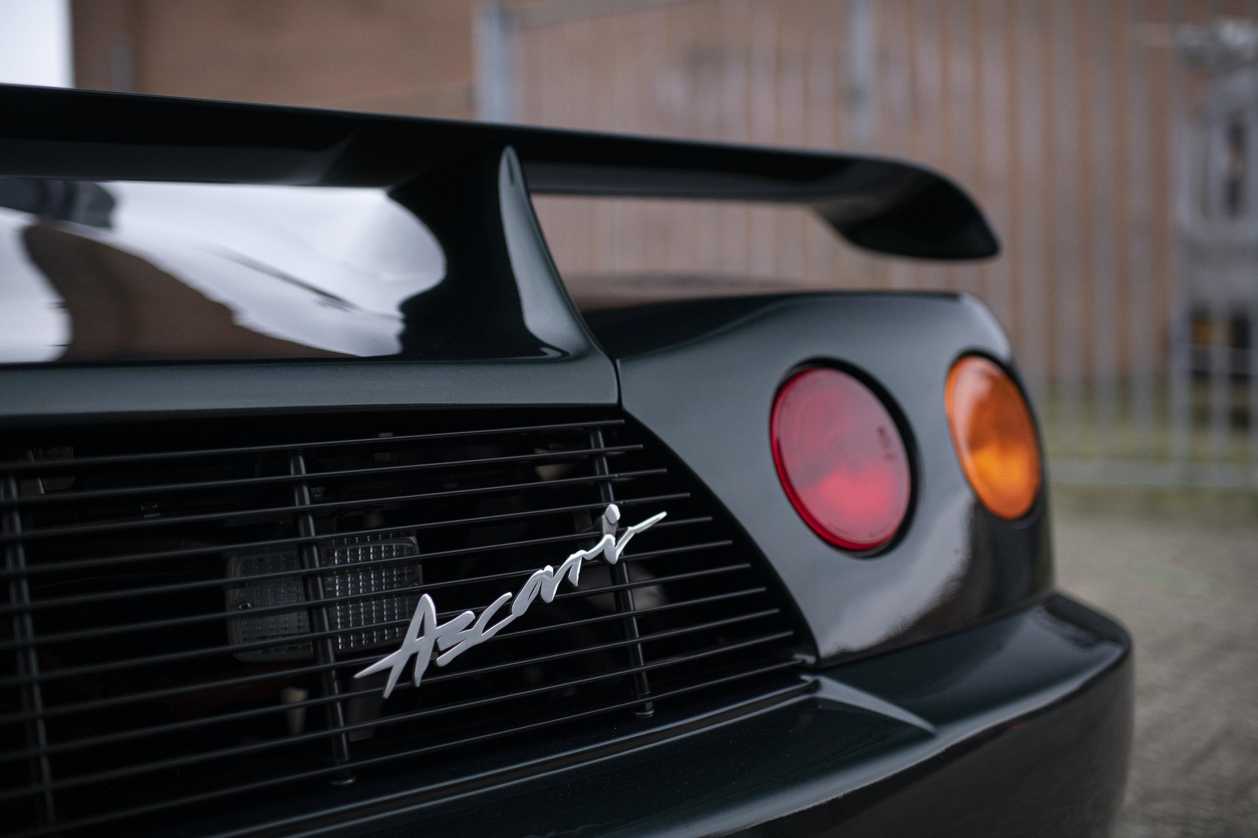 1997 Ascari Ecosse rear badging detail