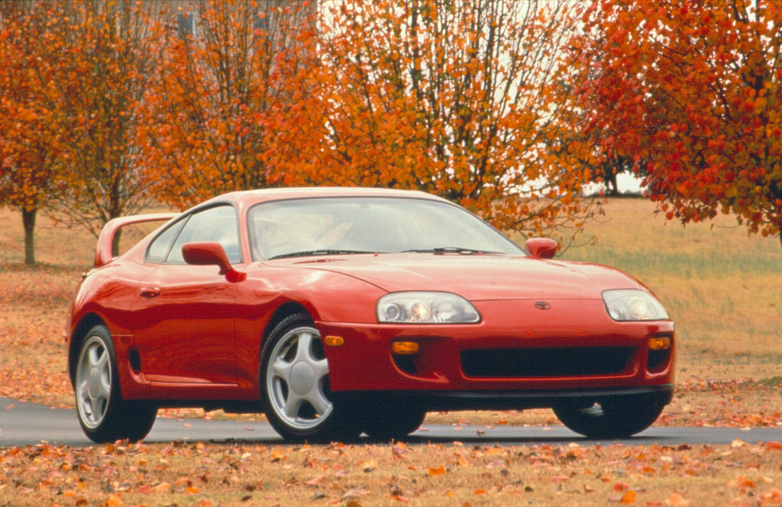 Toyota Supra MKIV front red