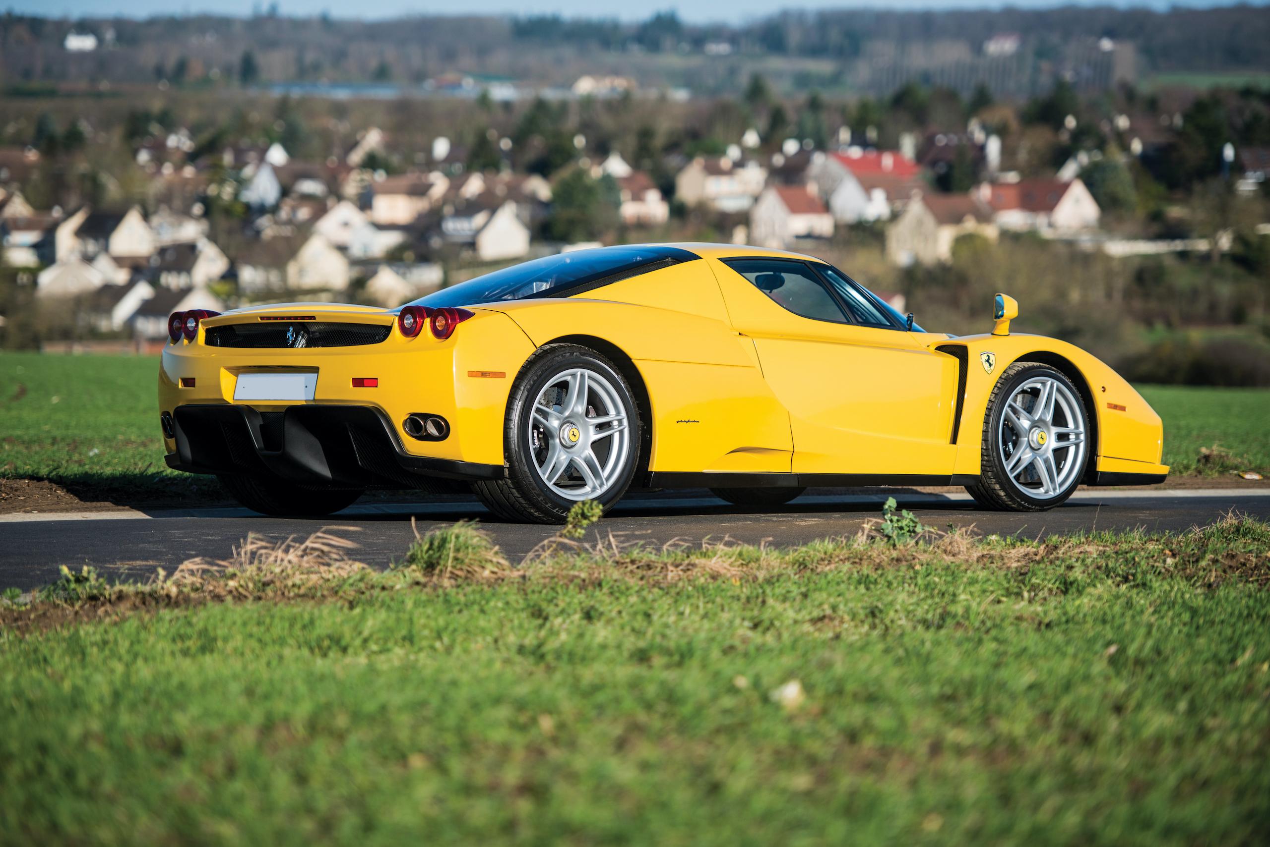 2002 Ferrari Enzo rear three-quarter