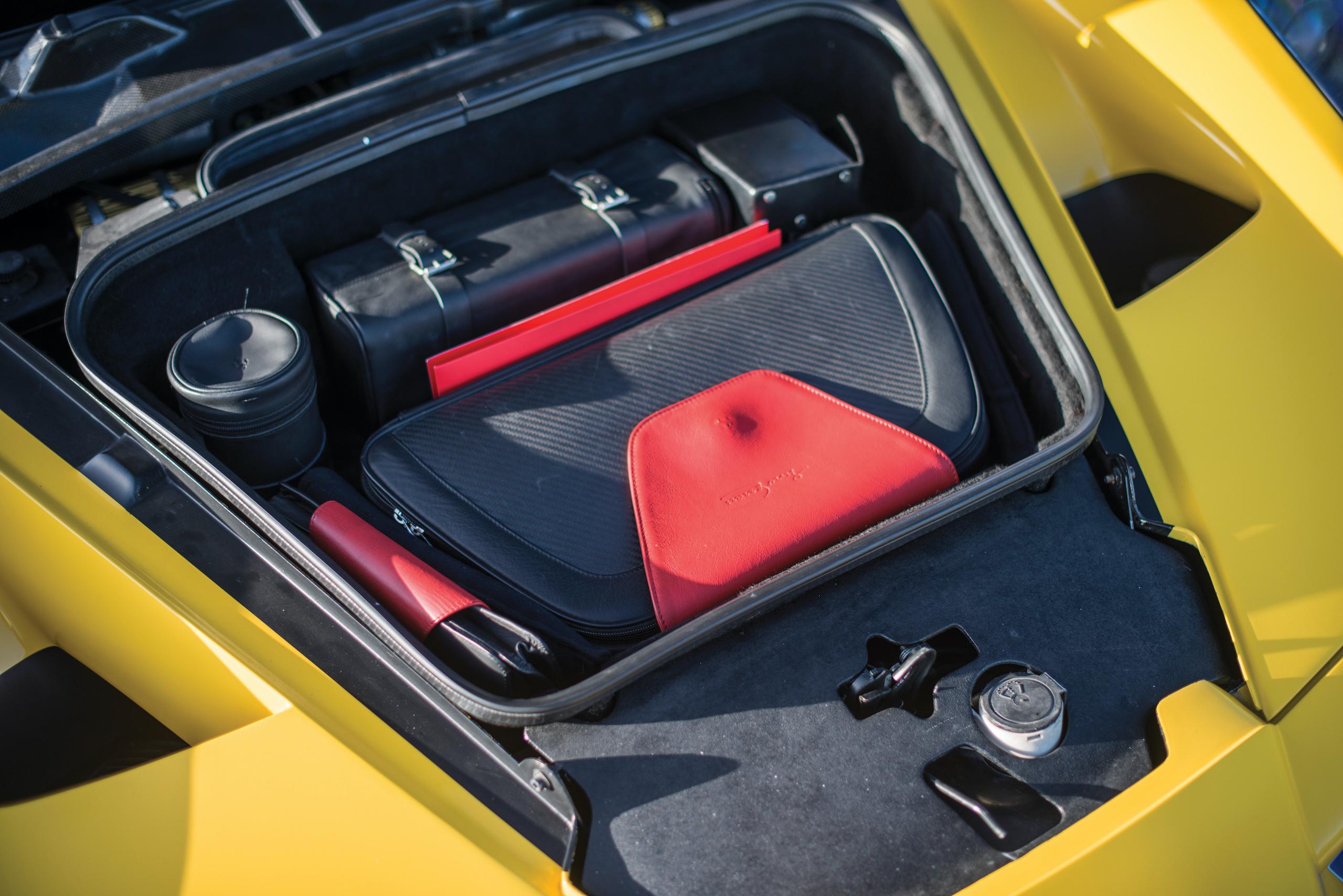 2002 Ferrari Enzo front trunk accessories