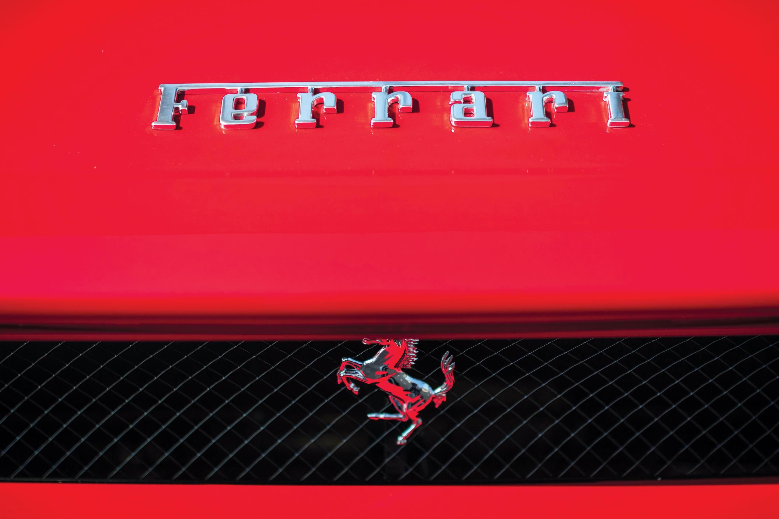 2003 Ferrari Enzo lettering and horse detail