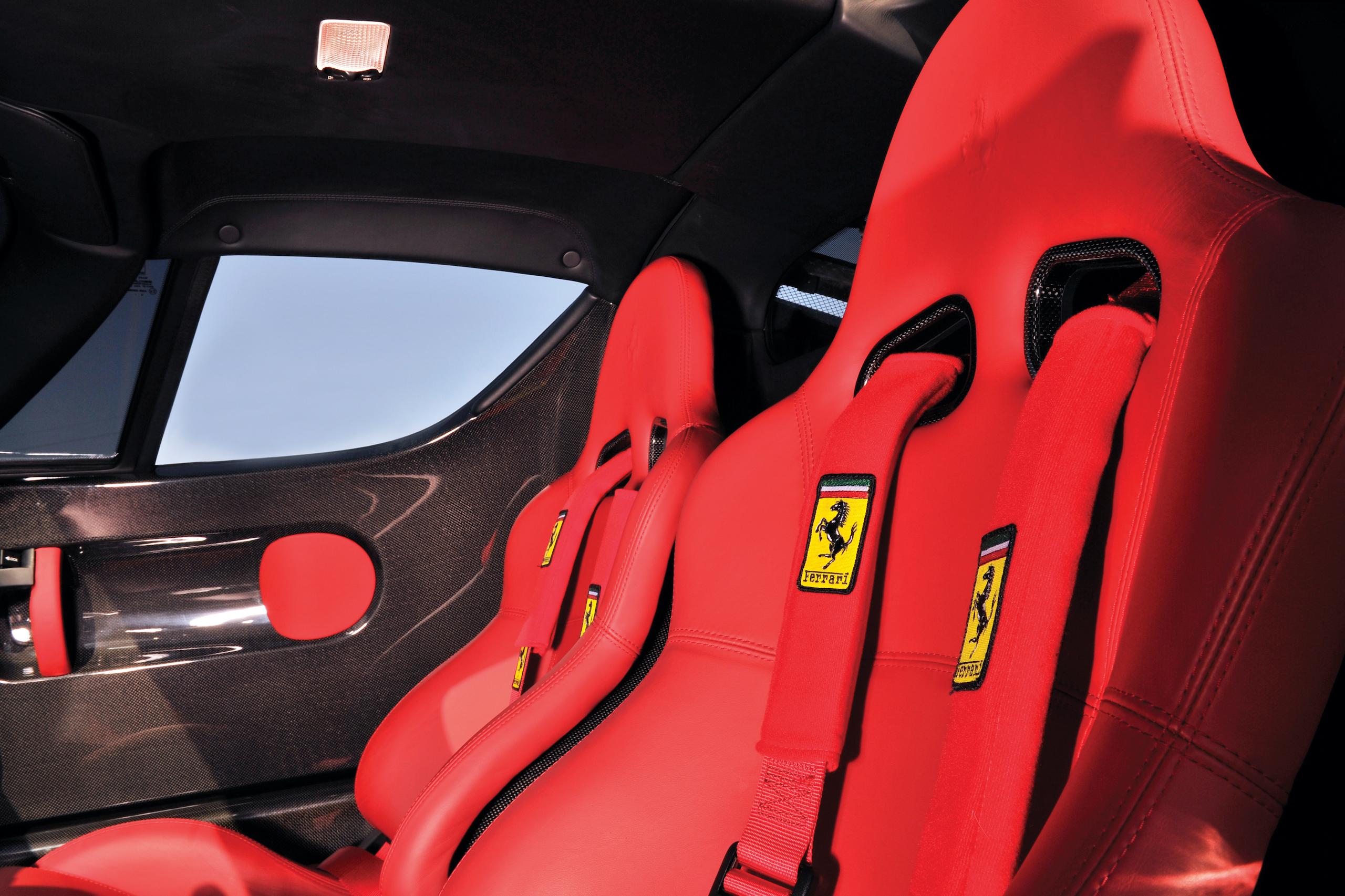 2004 Ferrari Enzo interior seats