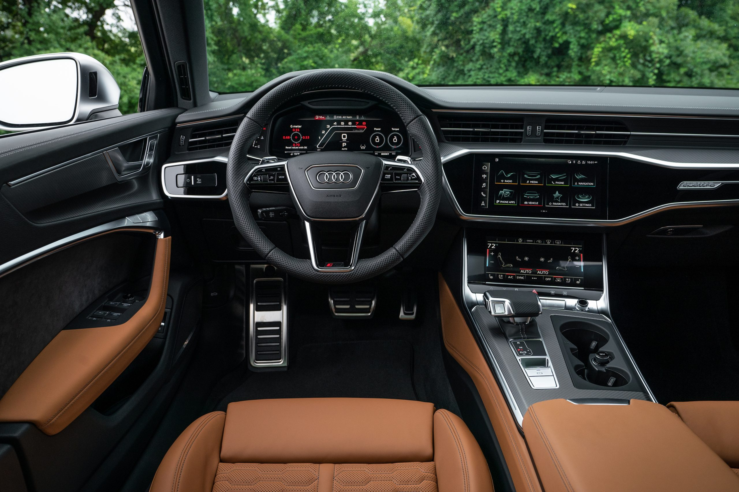 RS 6 Avant Nardo Gray interior drivers seat cockpit