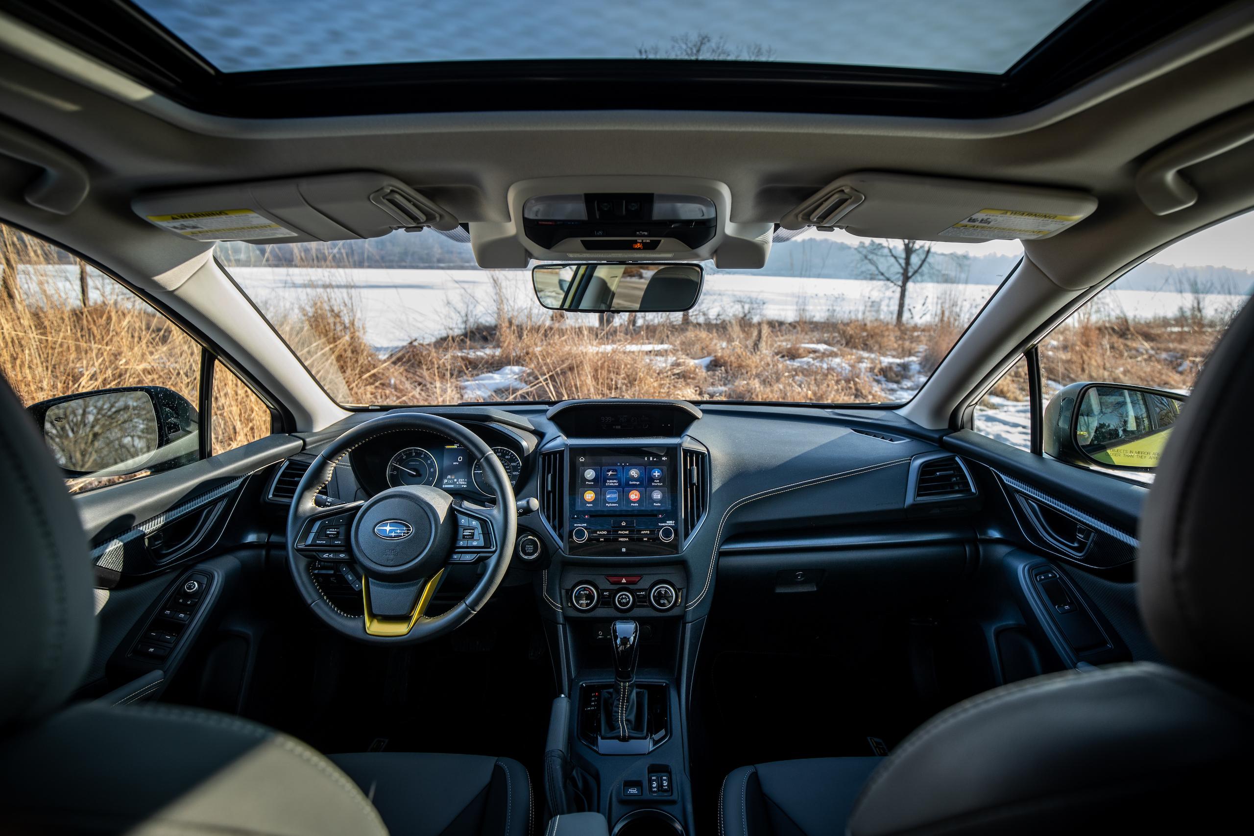 Subaru Crosstrek Sport interior front wide