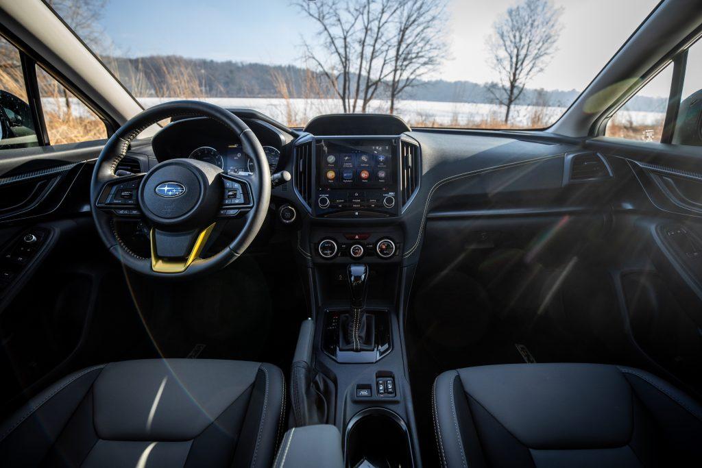 Subaru Crosstrek Sport interior front close