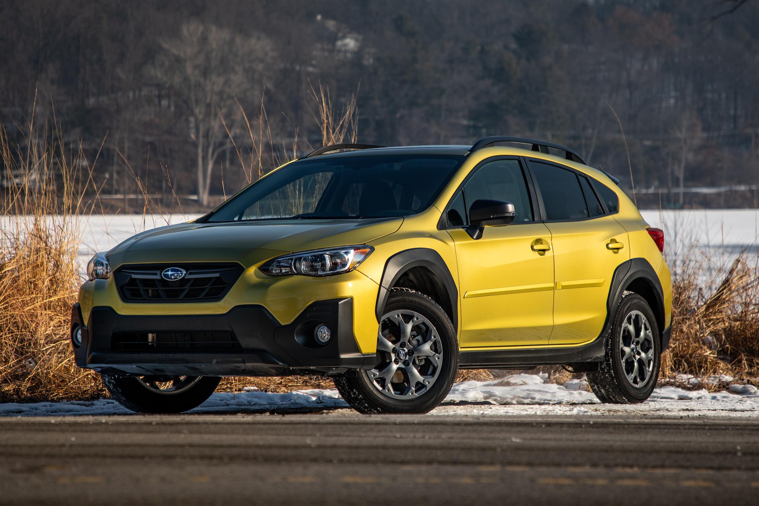 Subaru Crosstrek Sport front three-quarter