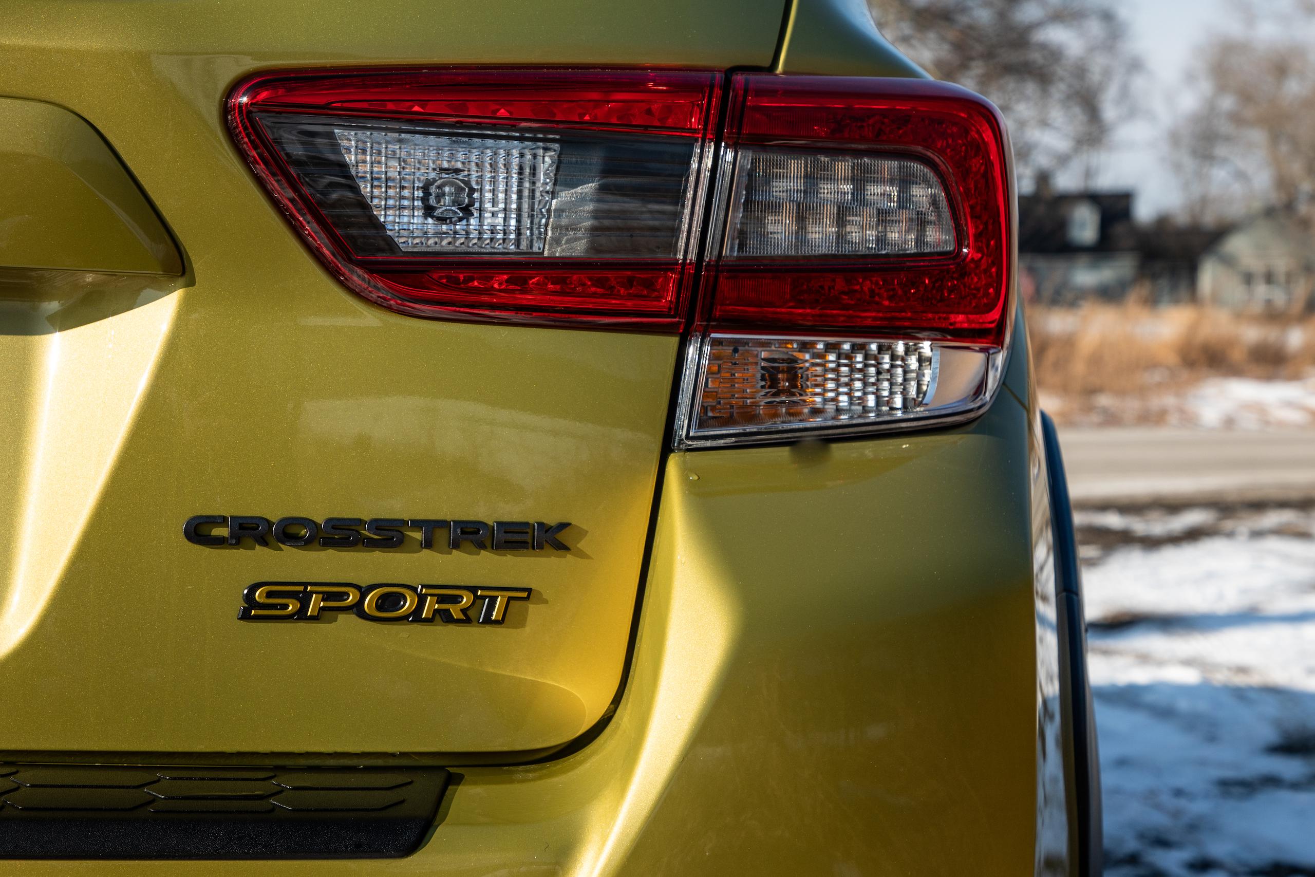 Subaru Crosstrek Sport rear badge