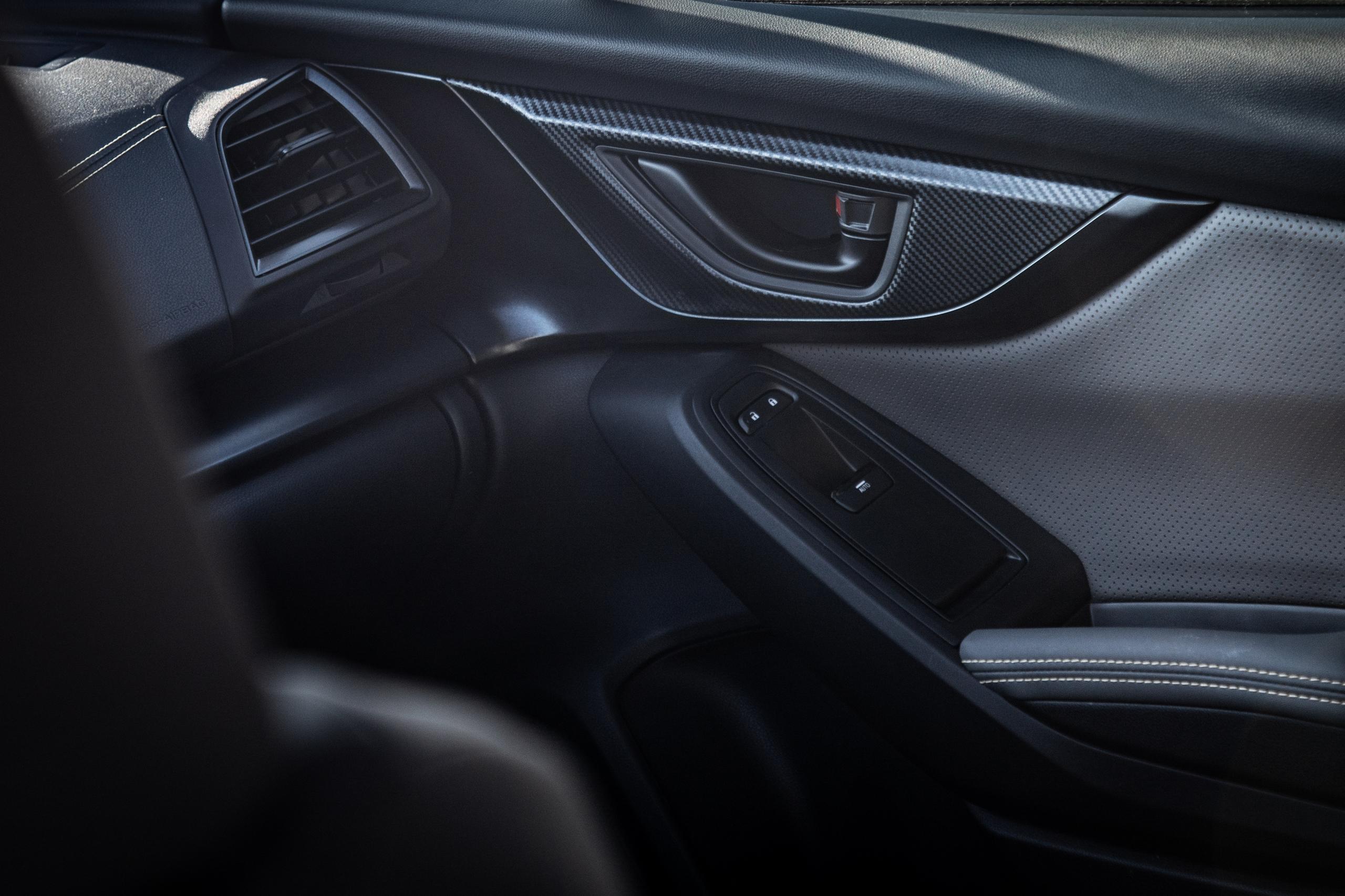 Subaru Crosstrek Sportfront door panel materials detail