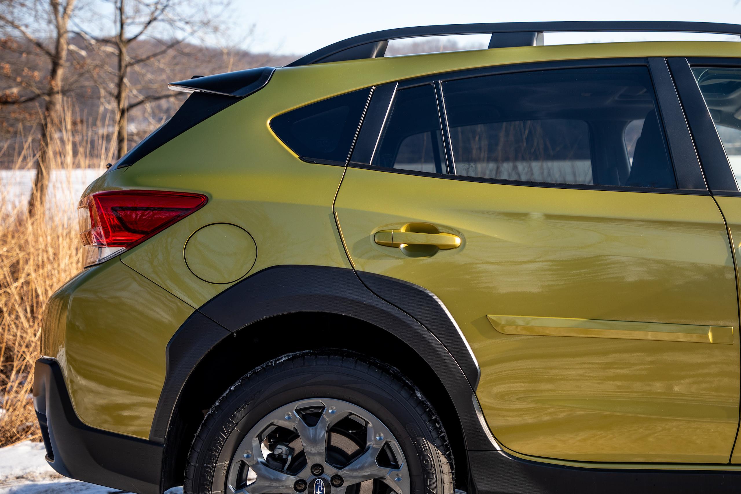 Subaru Crosstrek Sport rear quarter and door side profile
