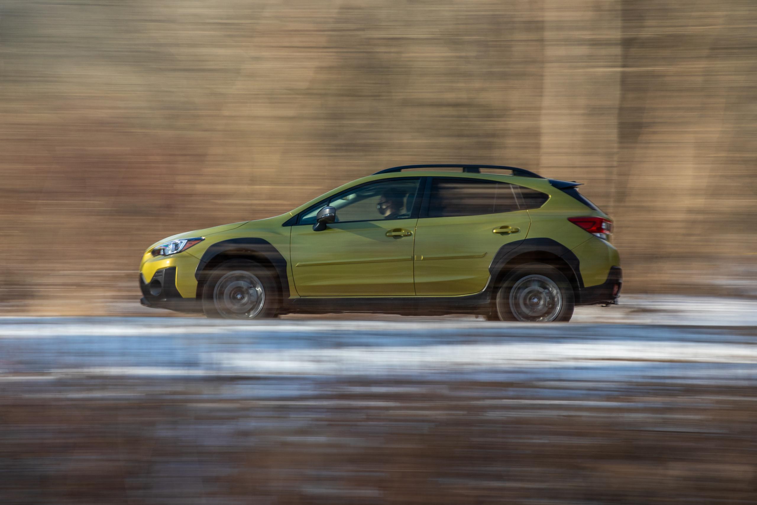 Subaru Crosstrek Sport side profile action
