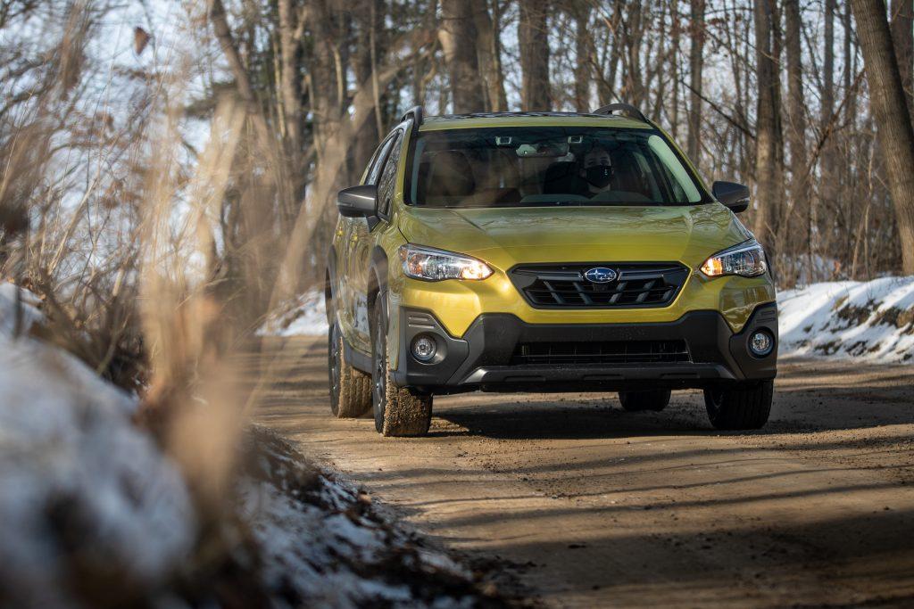 Subaru Crosstrek Sport front action