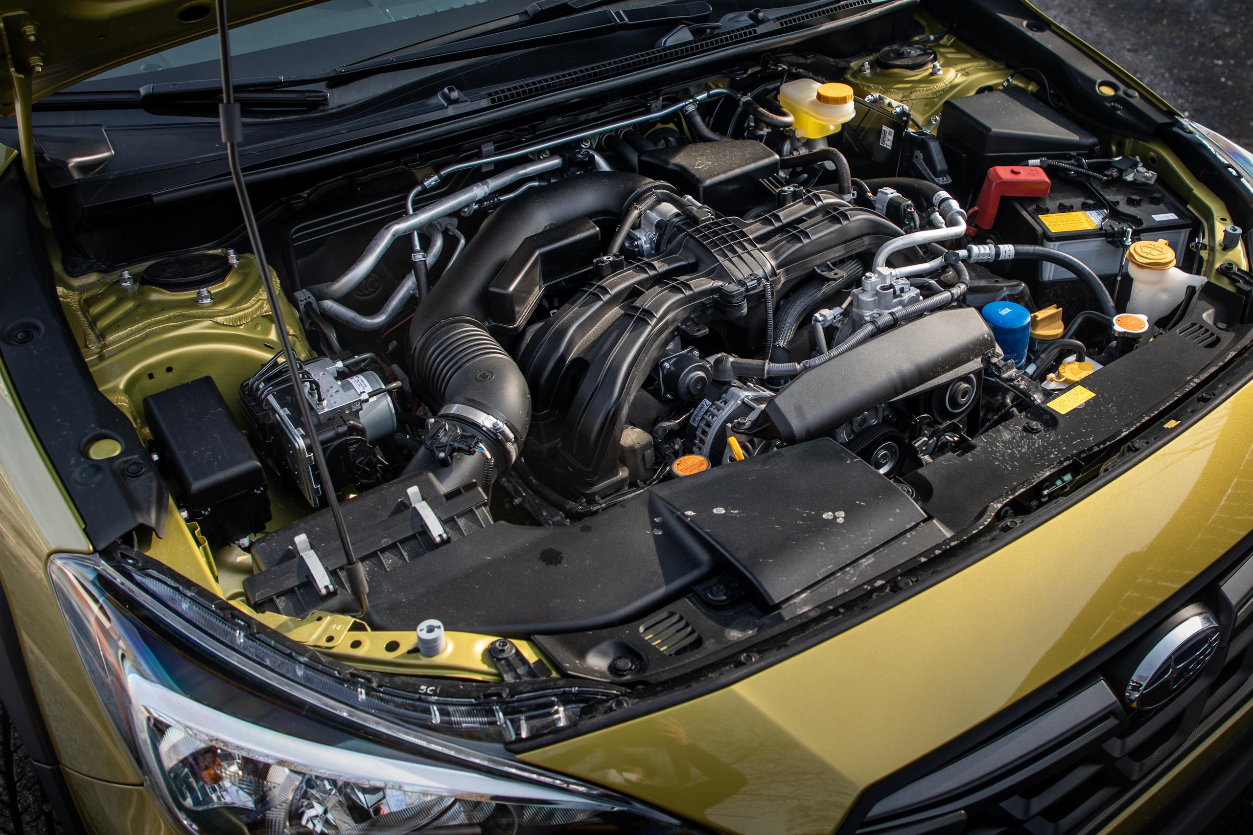 Subaru Crosstrek Sport engine bay angle