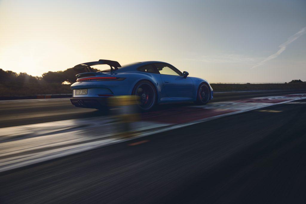 2022 Porsche 911 GT3 passenger rear three quarter