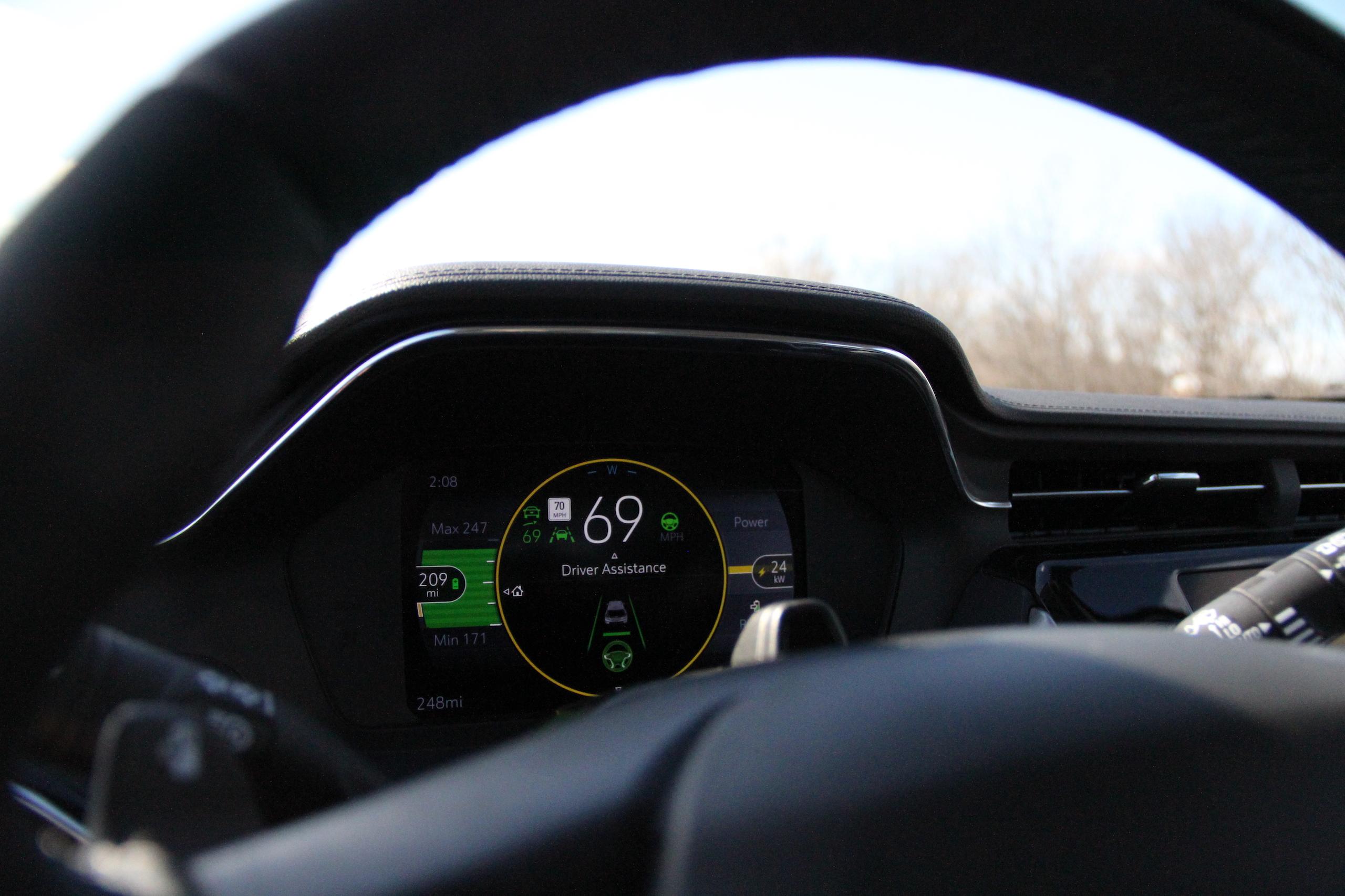 2022 Bolt EUV digital dash detail