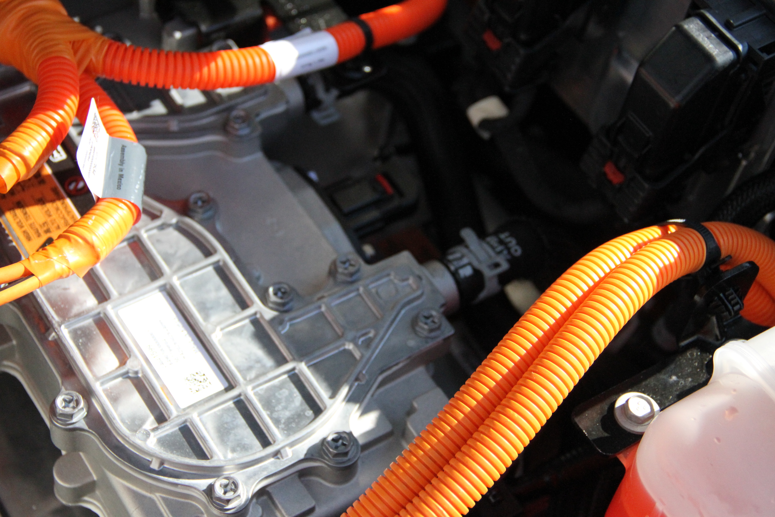 2022 Bolt EUV engine orange conduit detail