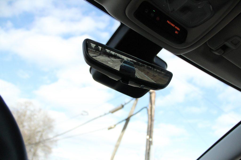 2022 Bolt EUV rear mirror camera driving action