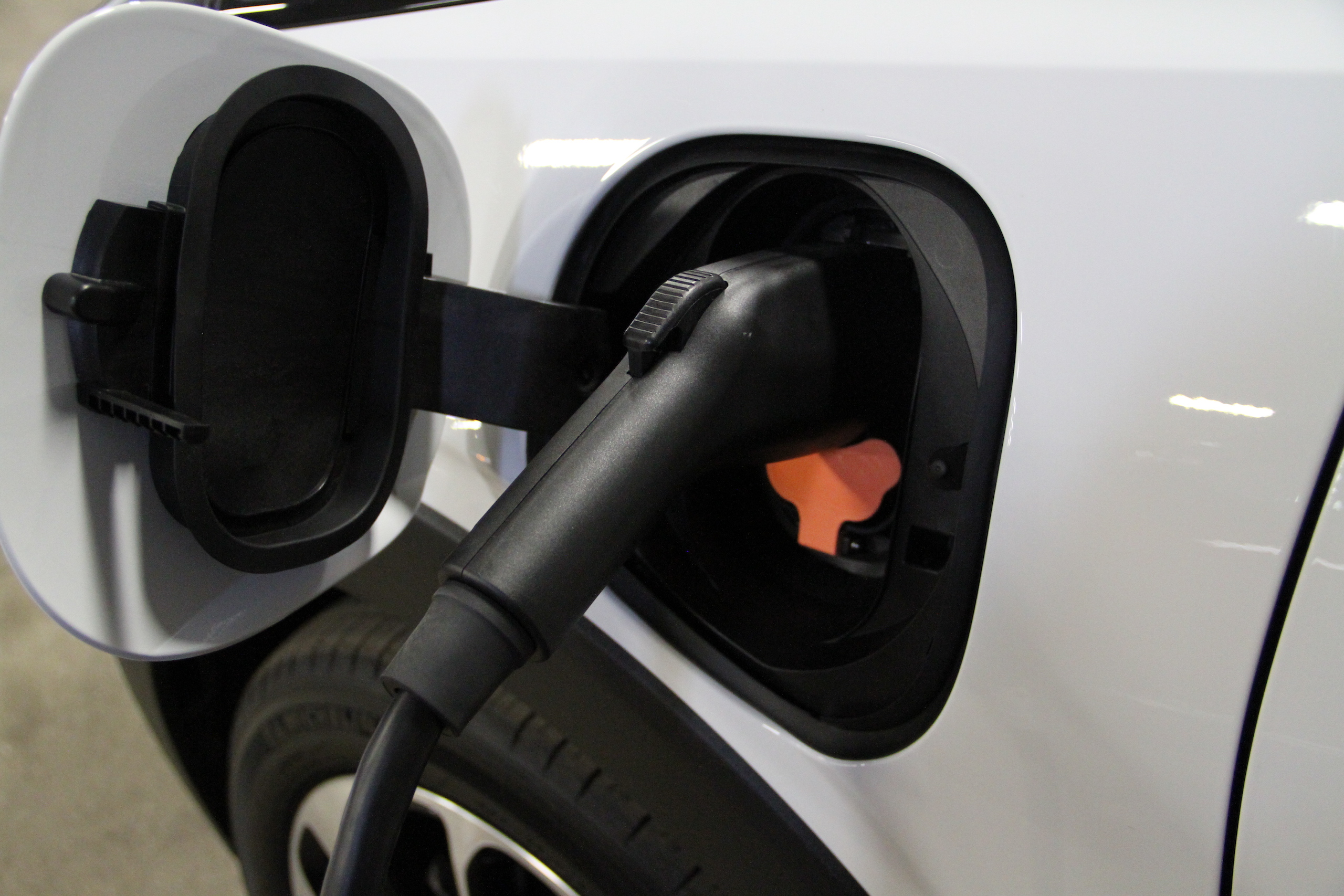 2022 Bolt EUV charging port close
