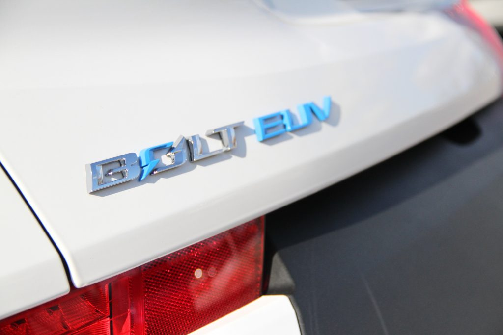 2022 Bolt EUV badge detail