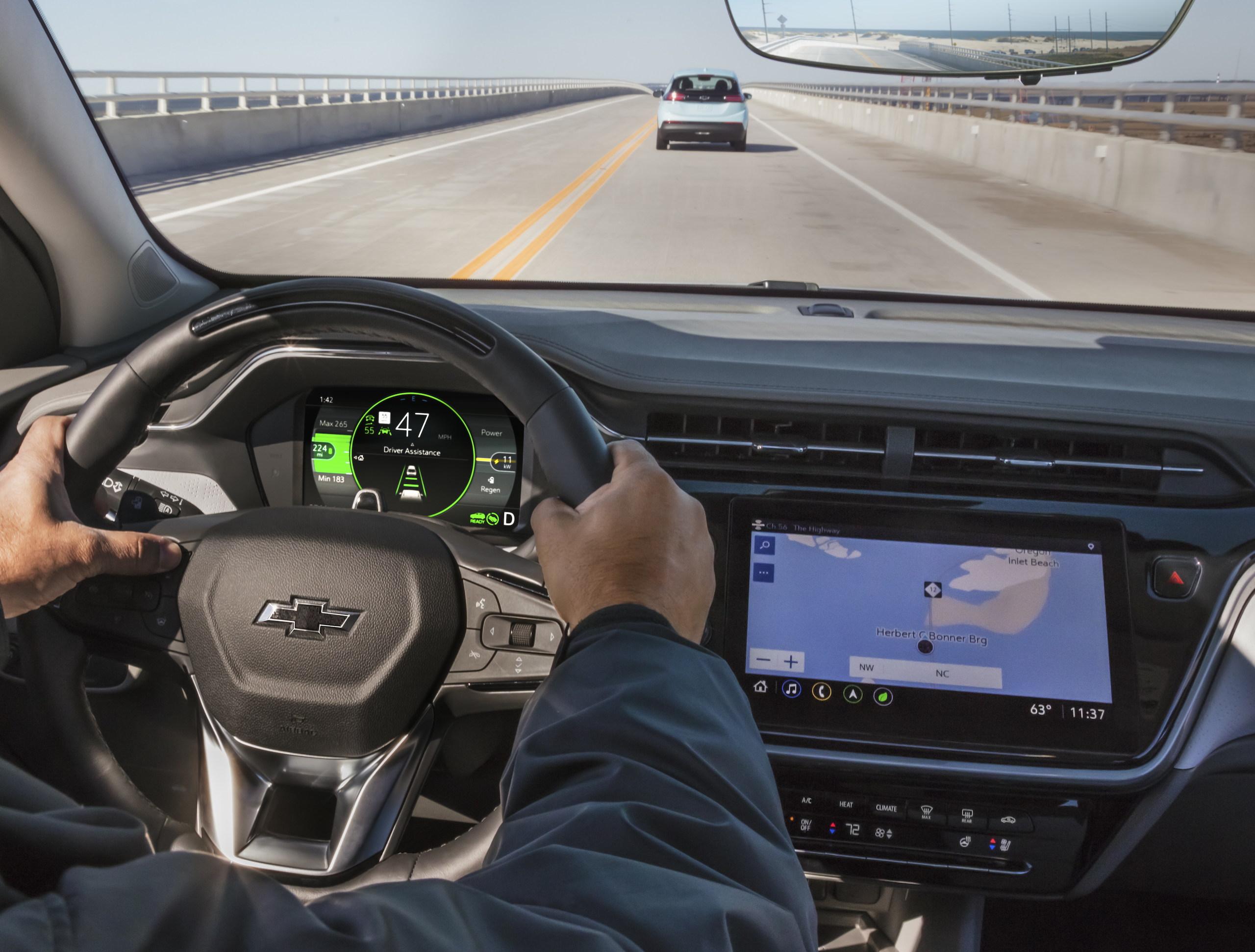 2022 Chevrolet Bolt EUV interior adaptive cruise on