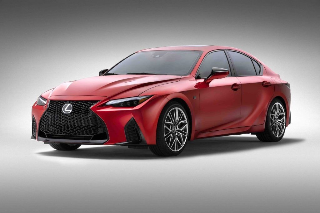 2022 Lexus IS 500 F Sport front three quarter