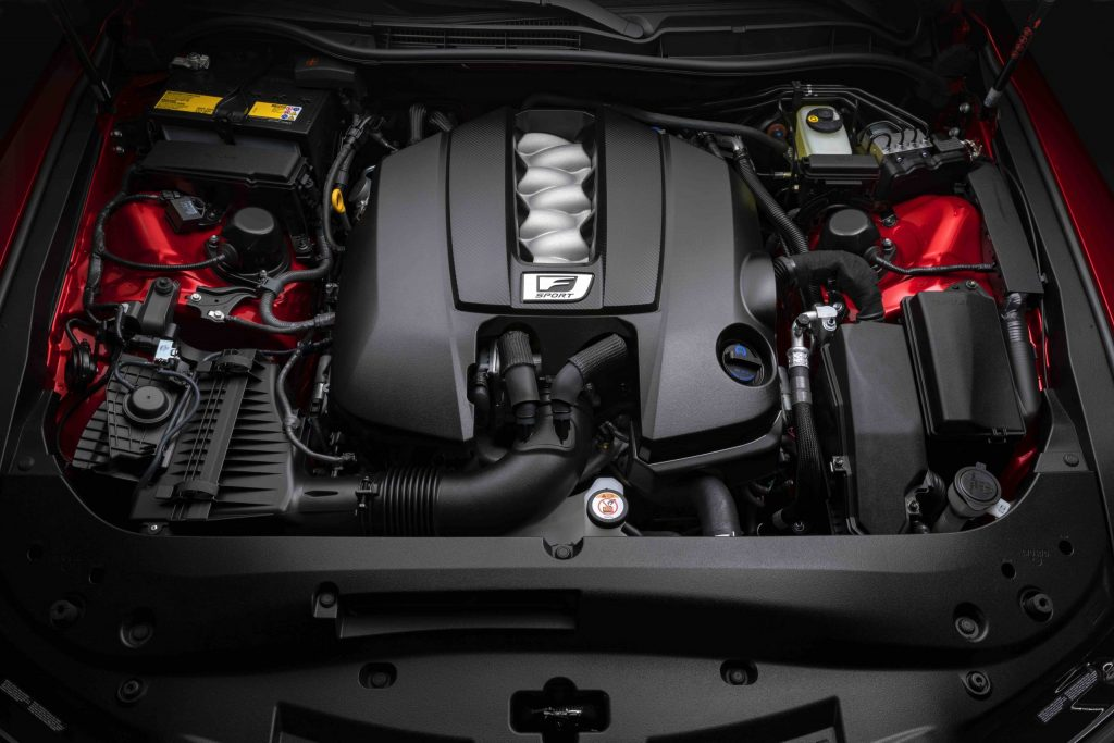 2022 Lexus IS 500 F Sport engine bay