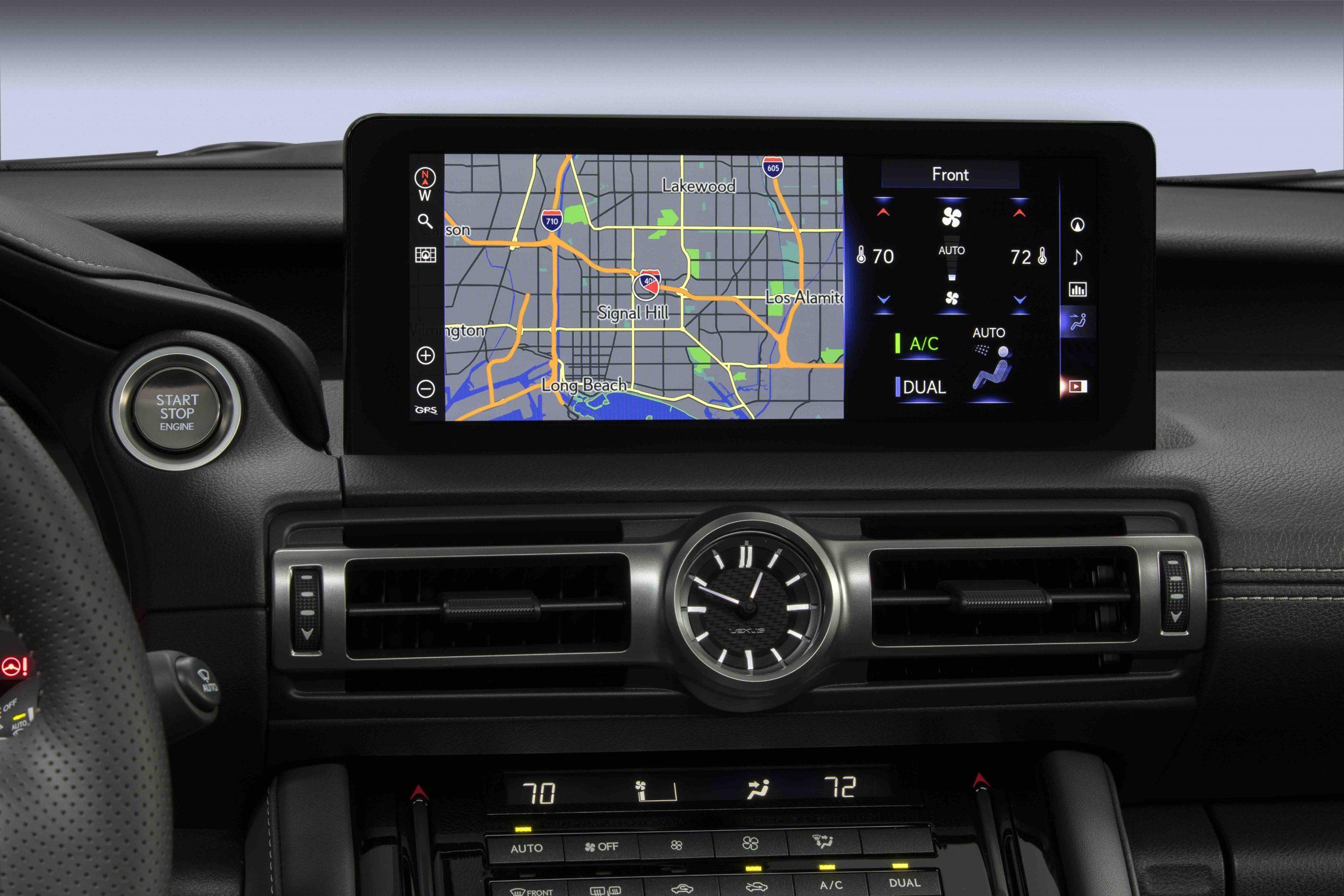 2022 Lexus IS 500 F Sport center screen