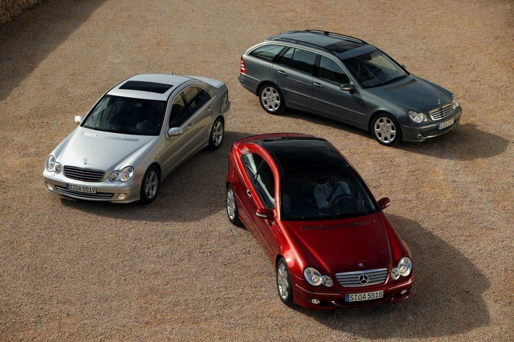 Mercedes-Benz W203 C-class coupe sedan wagon family